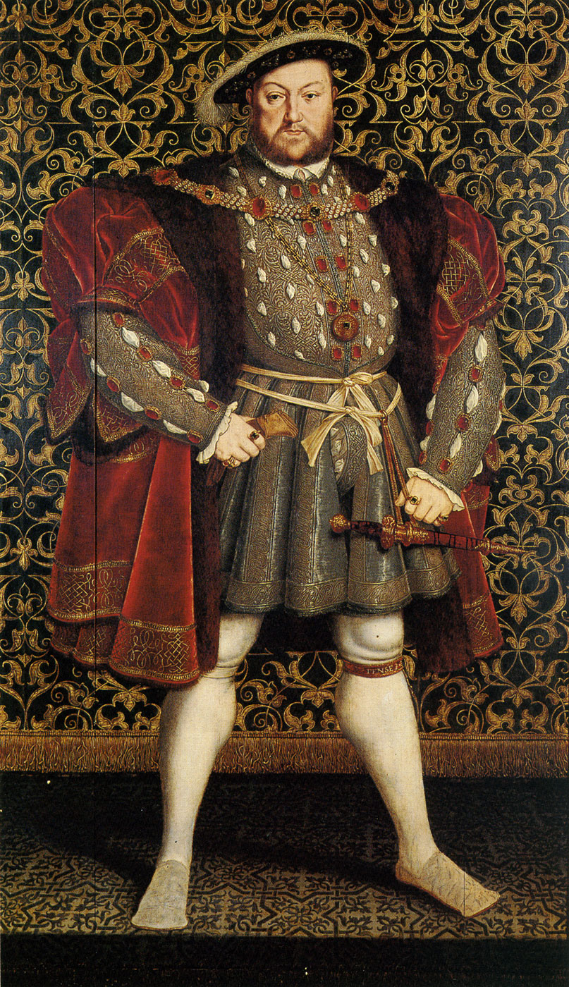Portrait of Henry VIII of England by Hans Eworth, after Hans Bolbein the Younger, Chatsworth House. c.1560-73