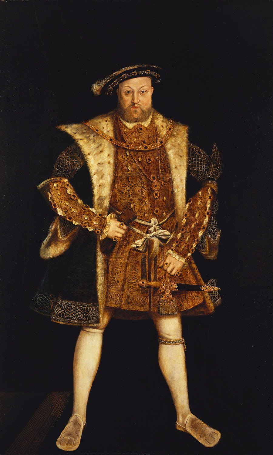 Portrait of Henry VIII. c.1550-99. After Hans Holbein the Younger