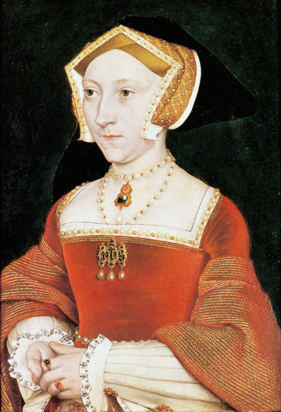Portrait of Jane Seymour, third wife of Henry VIII, executed in the workshop of Hans Holbein the Younger. c.1540
