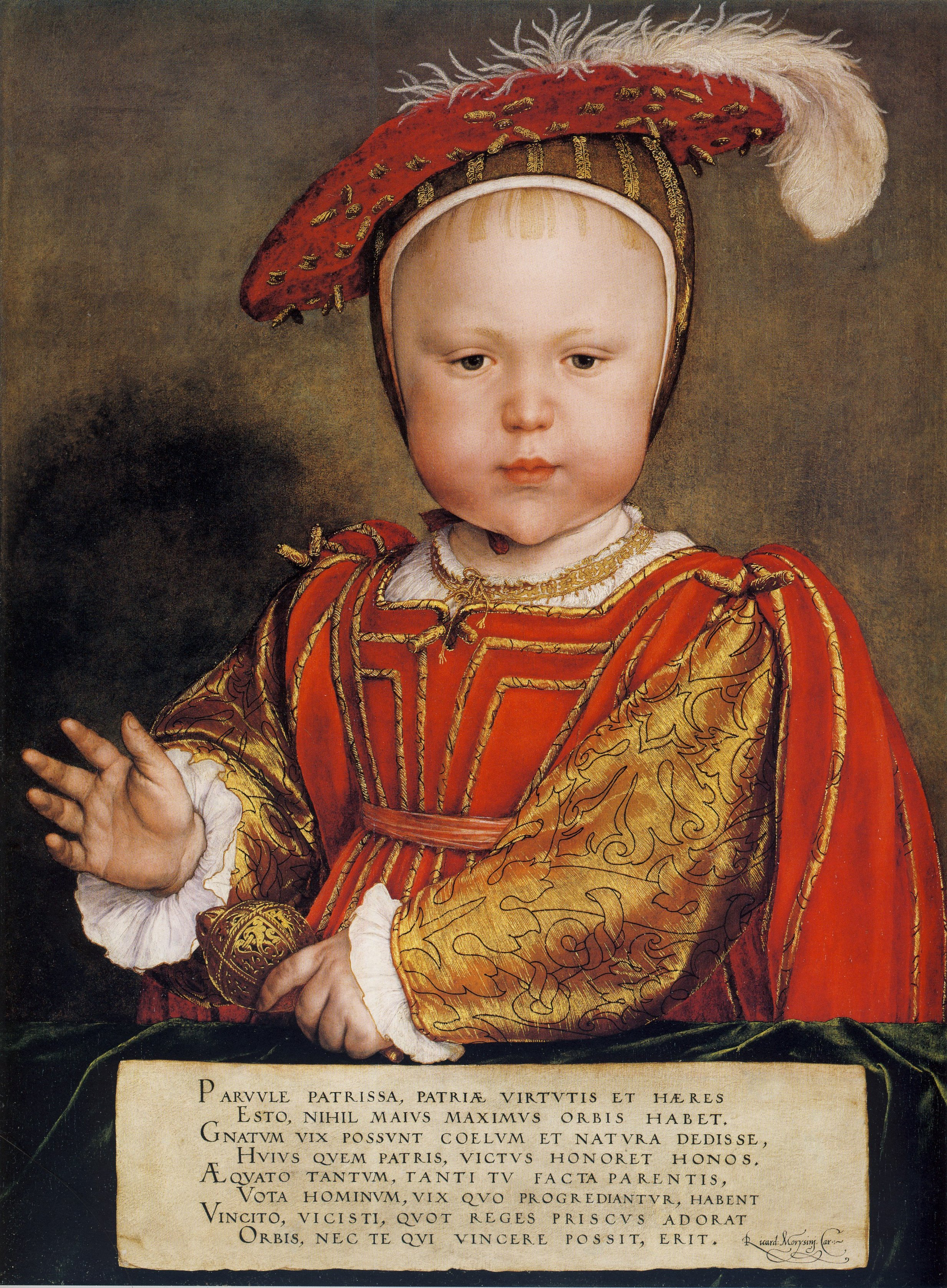 Portrait of Prince Edward, later King Edward VI of England. c.1538