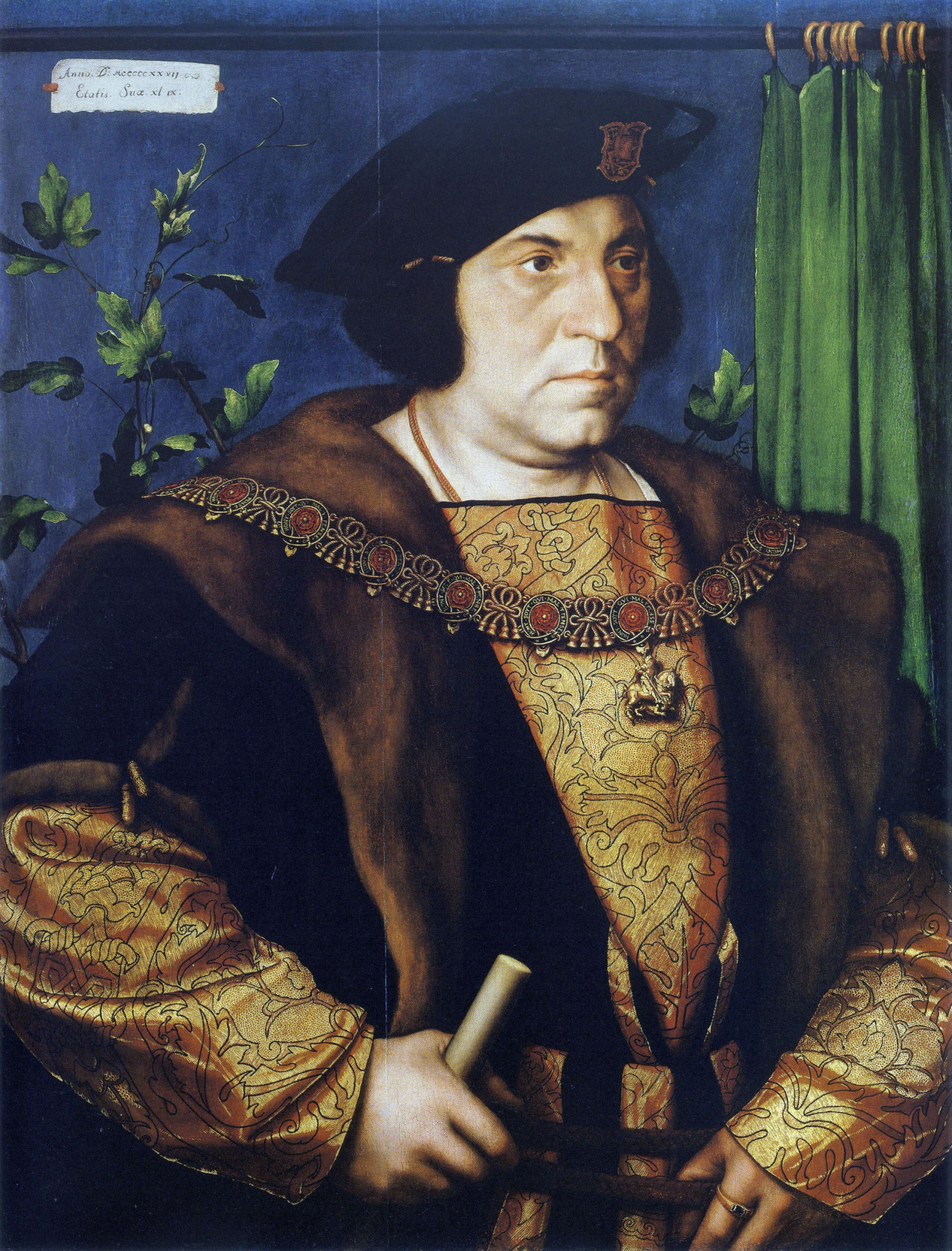 Portrait of Sir Henry Guildenford. 1527