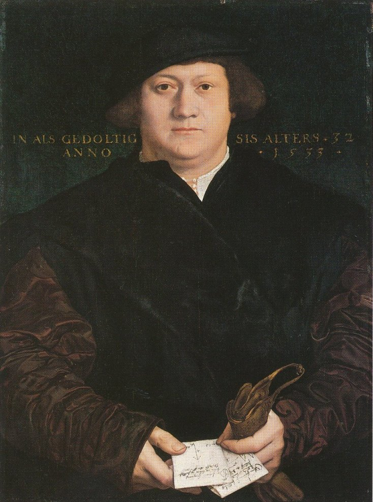 Portrait of the Hanseatic merchant Cyriacus Kale. 1533