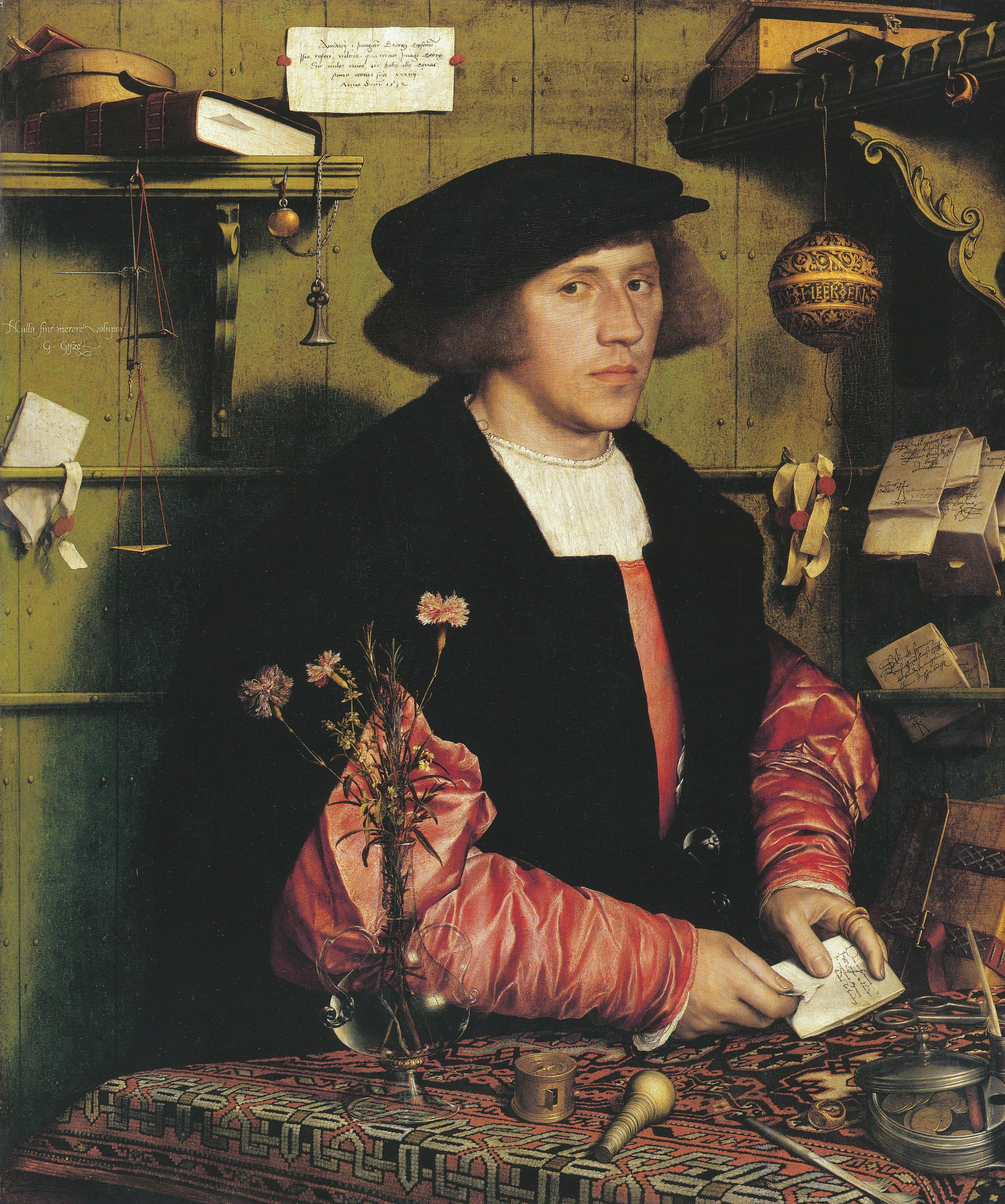 Portrait of the Merchant Georg Gisze. 1532