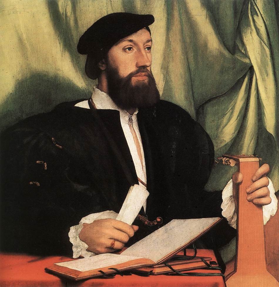 Portrait of Unknown Gentleman with Music Books and Lute. c.1534