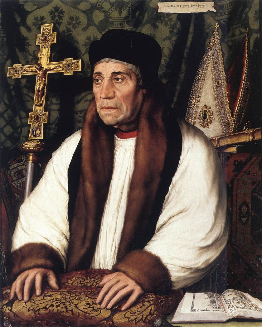 Portrait of William Warham, Archbishop of Canterbury. 1527