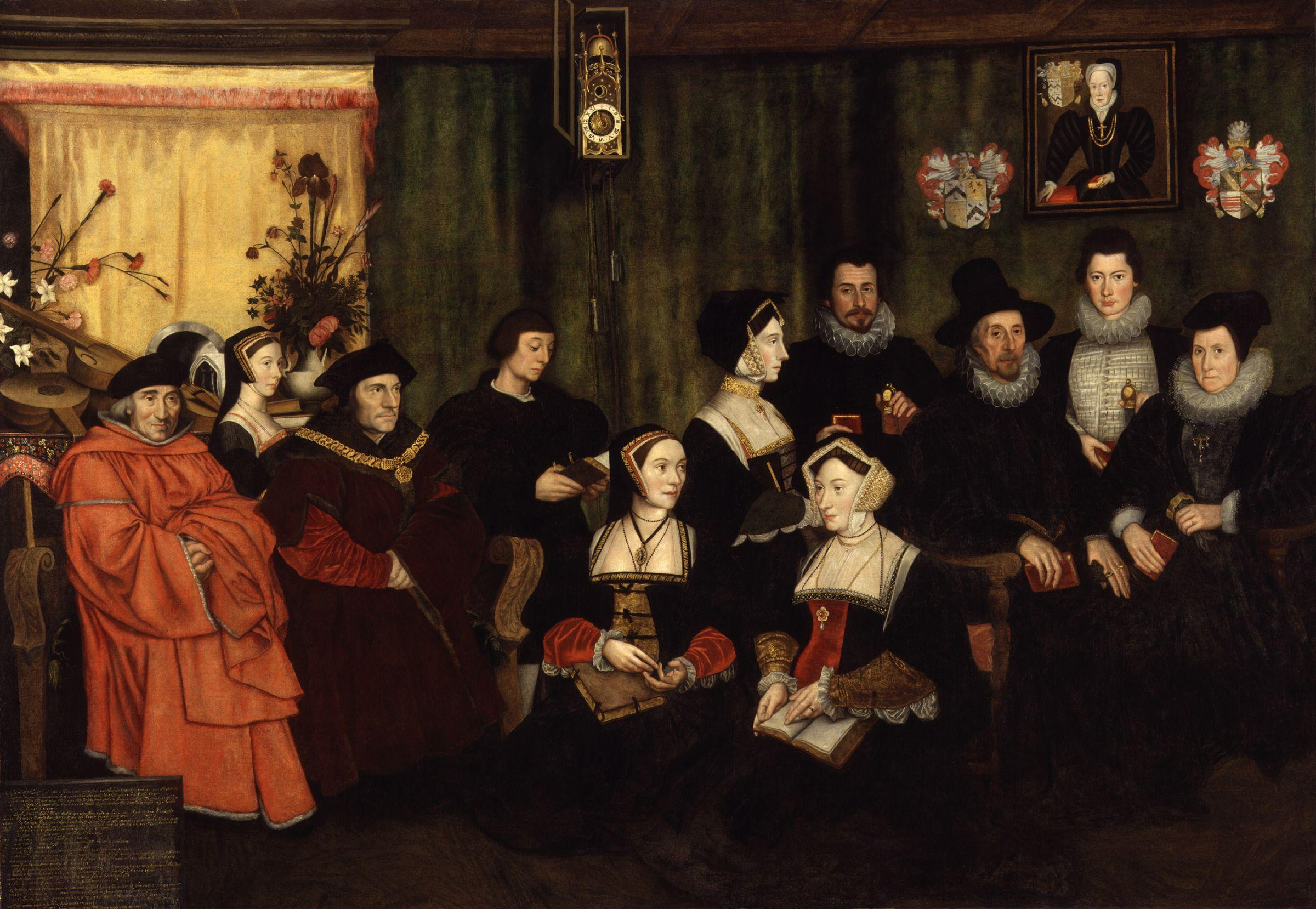 Rowland Lockey, after Hans Holbein the Younger. Sir Thomas More, his father, his household and his descendants