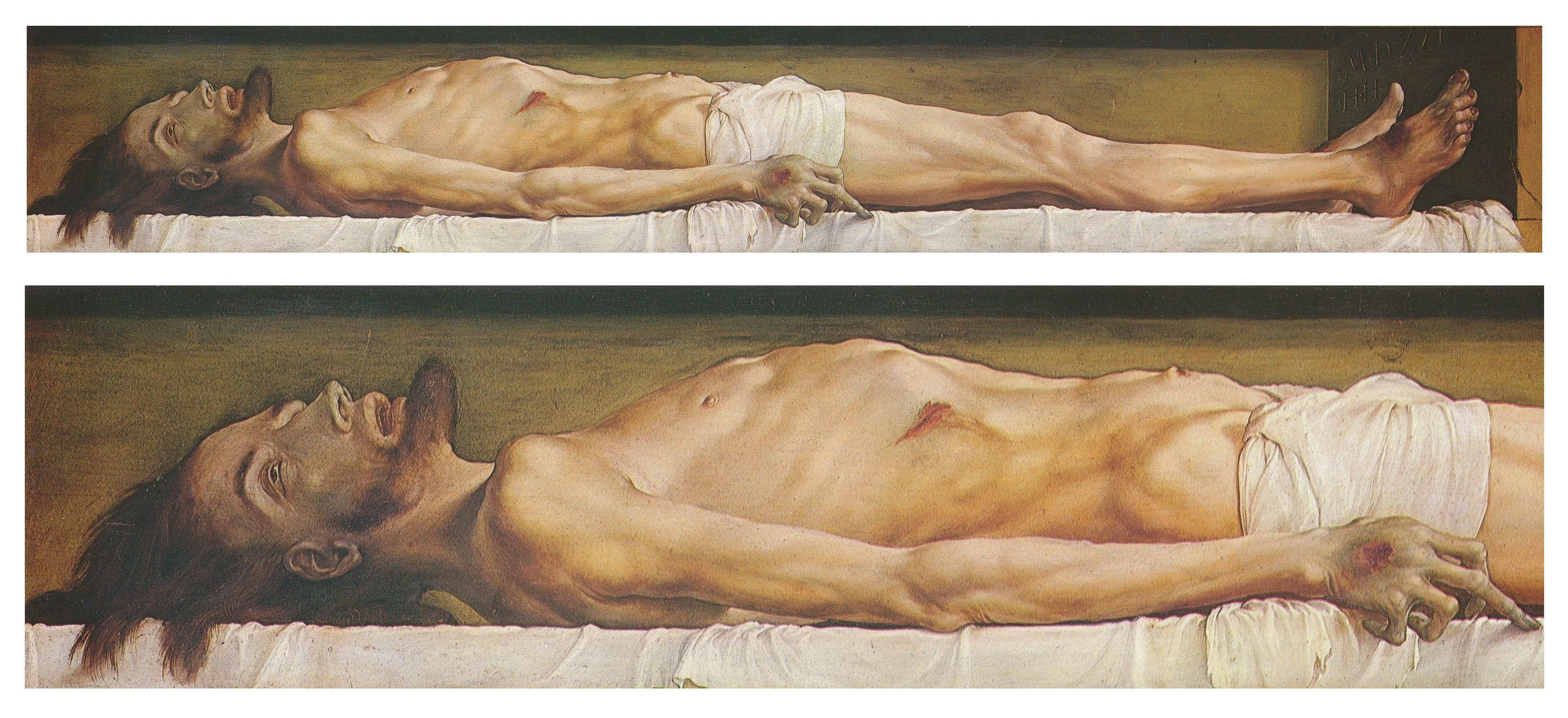 The Body of the Dead Christ in the Tomb and a detail. c.1520-22