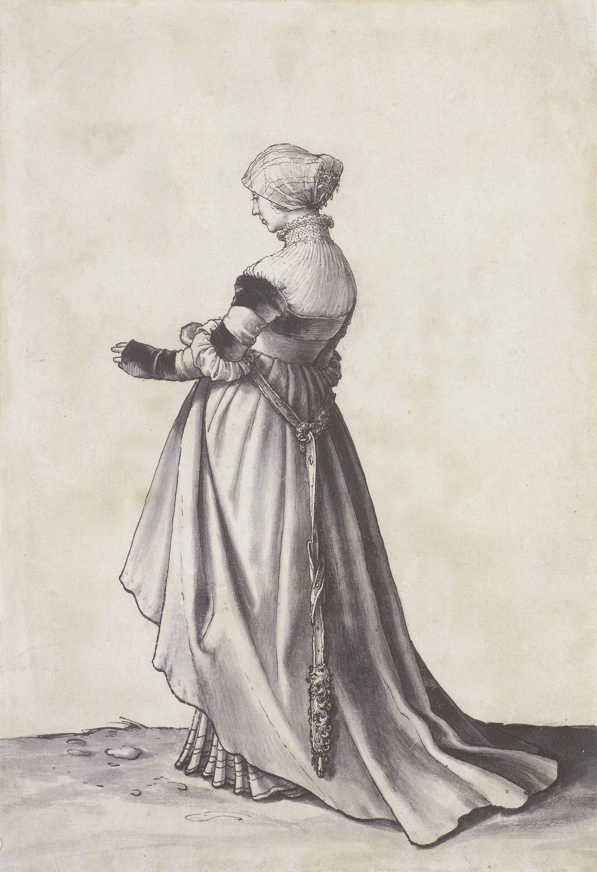 Basel Woman Turned to the Left. Costume Study. c.1523