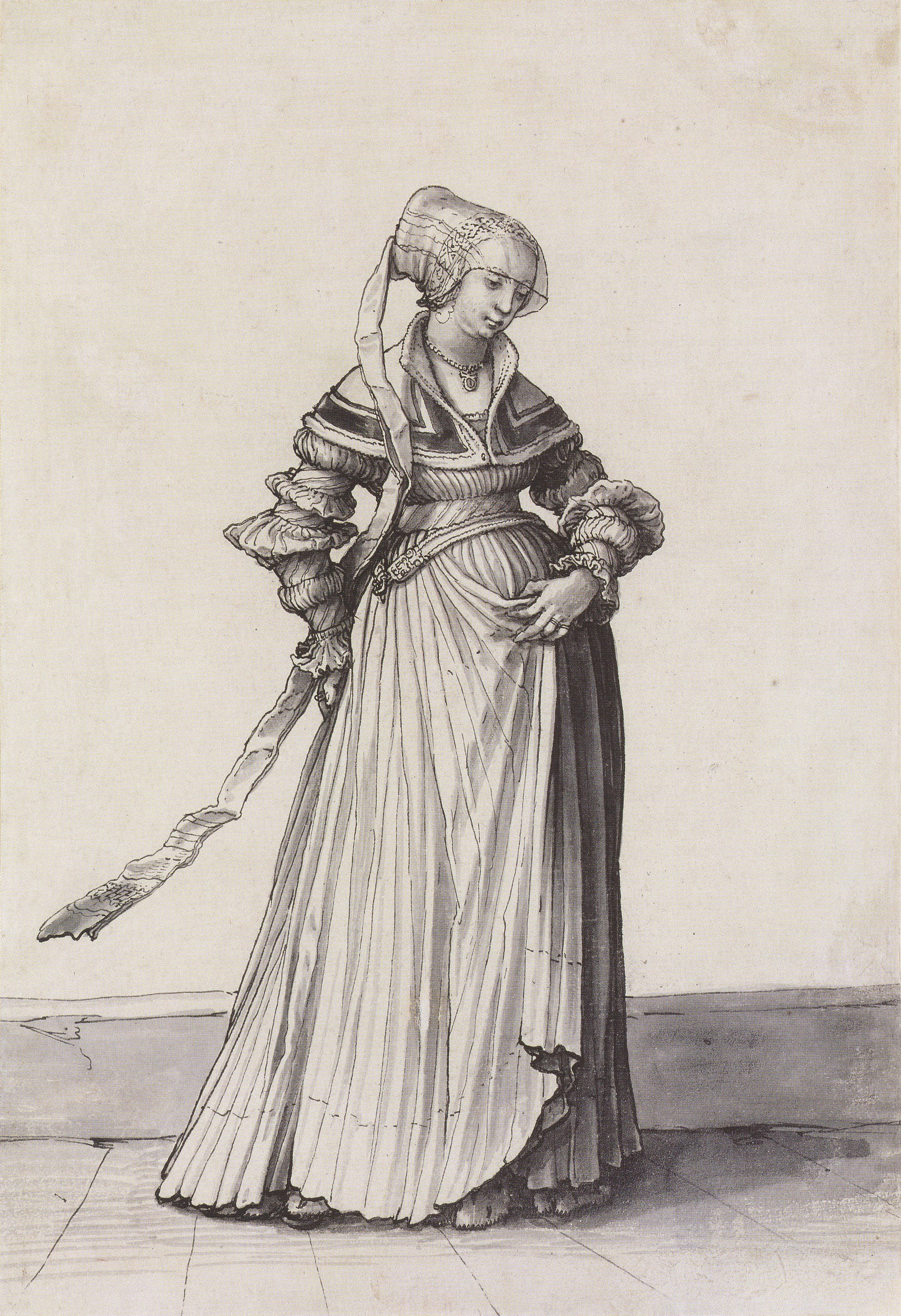 Basel Woman Turned to the Right. Costume Study. c.1523