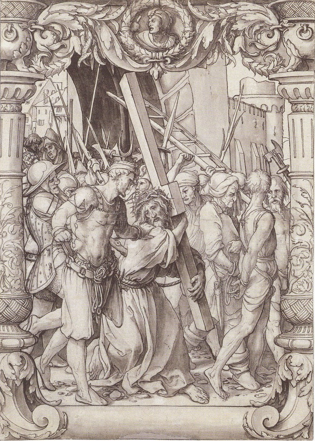 Christ Carrying the Cross. Design for stained glass window. c.1525-28