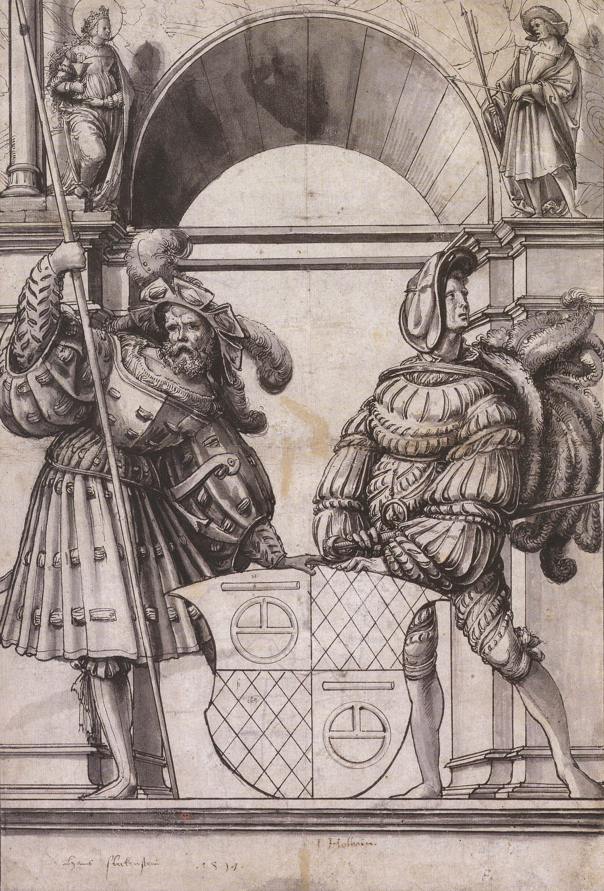 Design for a Stained Glass Window for Hans Fleckenstein. 1517
