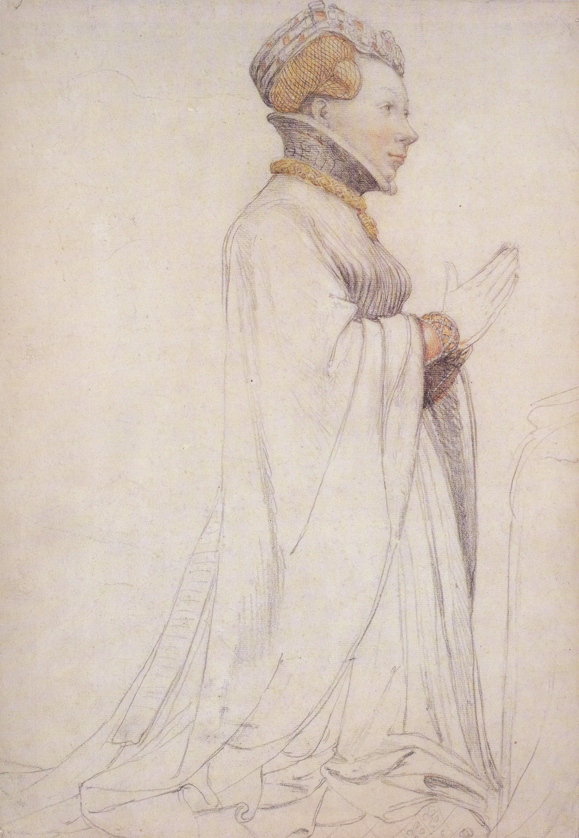 ean de Boulogne, Duchess of Berry, study of a sculpture by Jean de Cambrai. c.1523-24