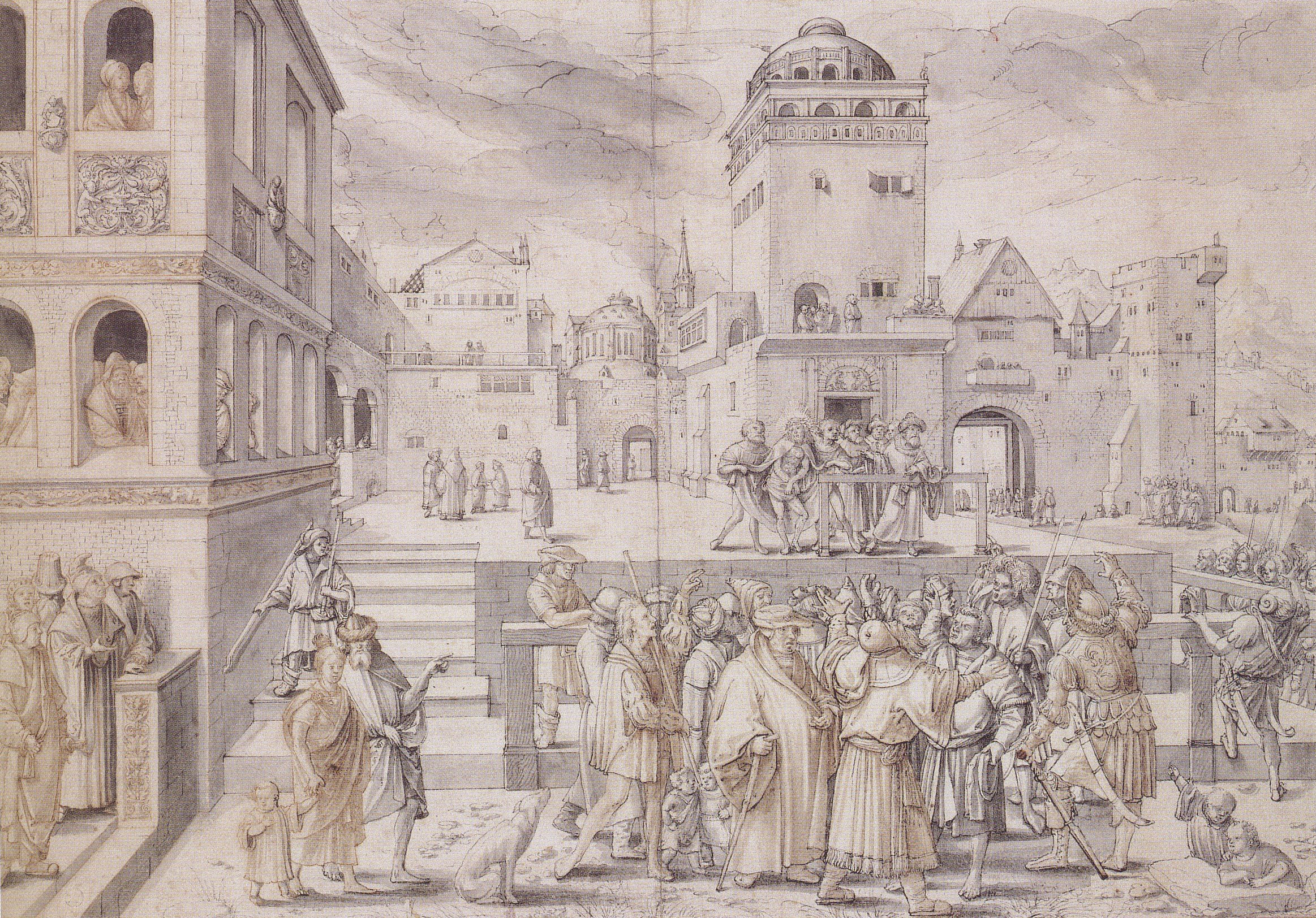 Ecce Homo, c.1515 by Hans Holbein the Younger after Lucas van Leyden