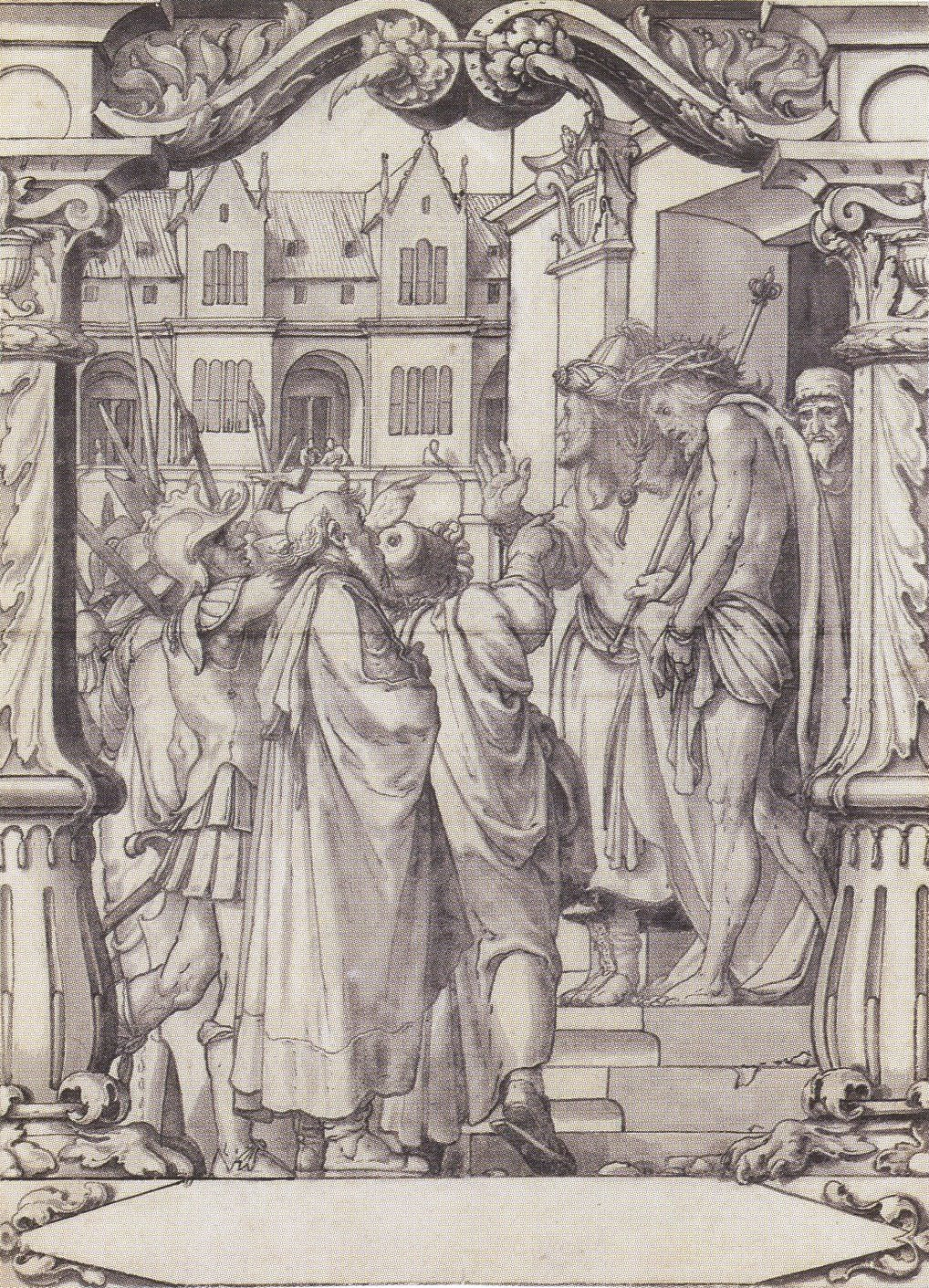 Ecce Homo, design for a stained glass window. c.1528