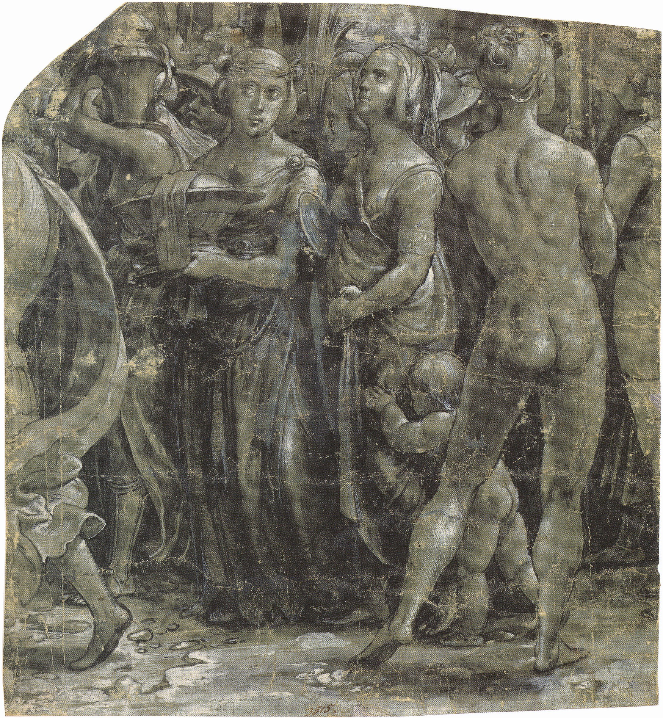 Fragment of a Scene with Classical Figures, c.1520