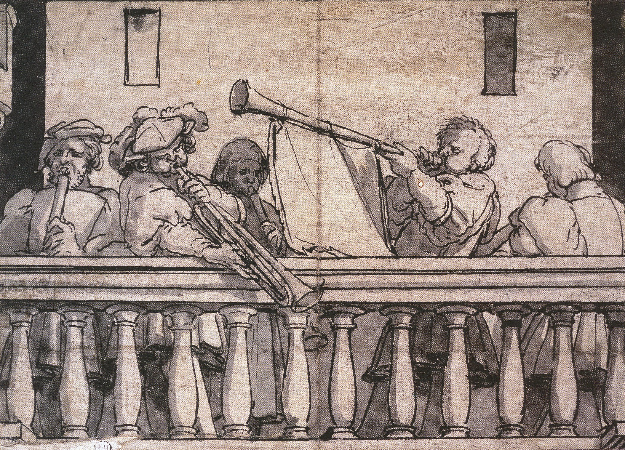 Musicians on a Gallery. c.1524