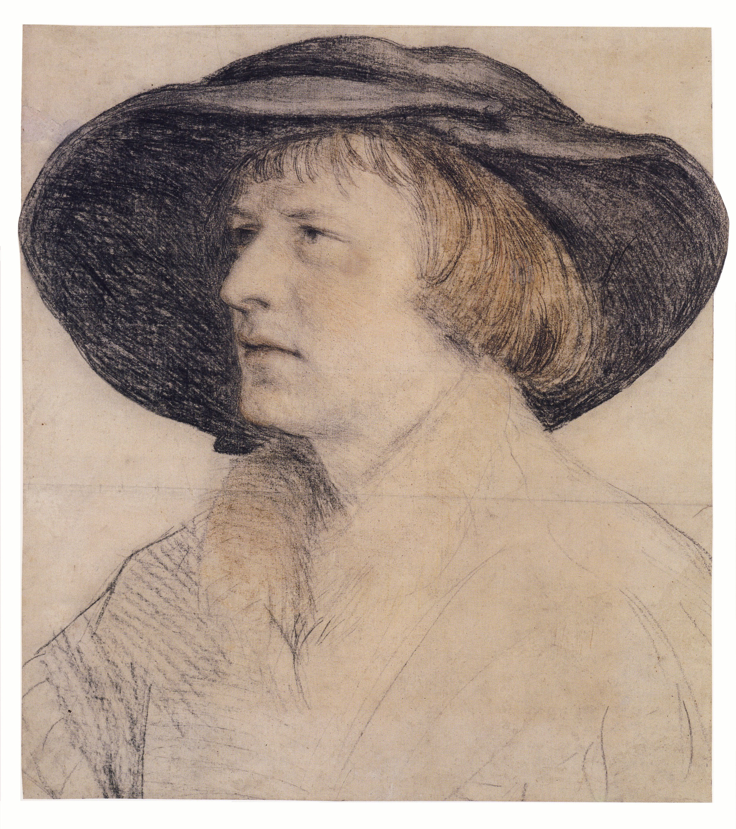Portrait drawing of Bonifacius Amerbach. c.1525
