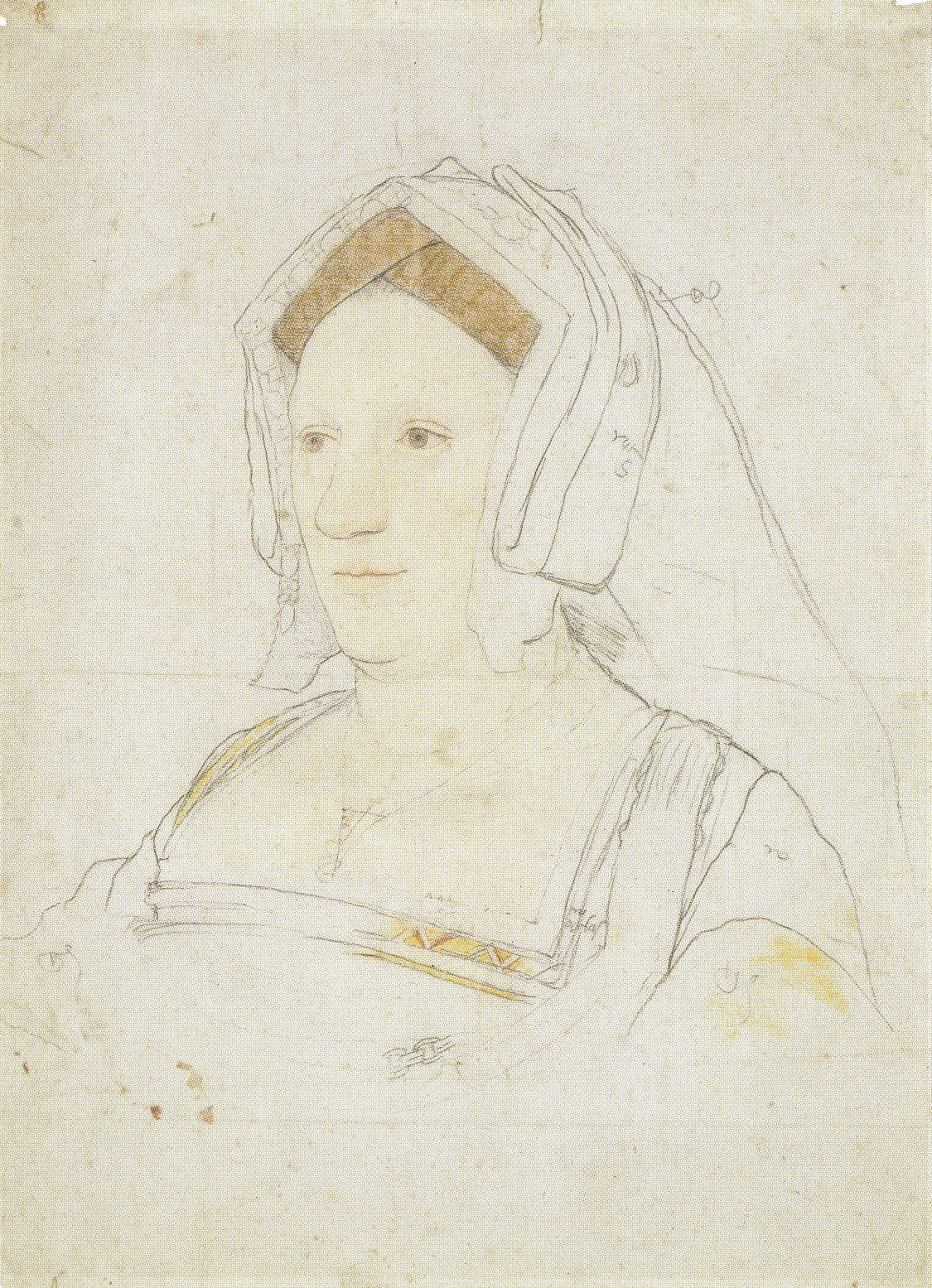 Portrait of an Unknown English Noblewoman. c.1527