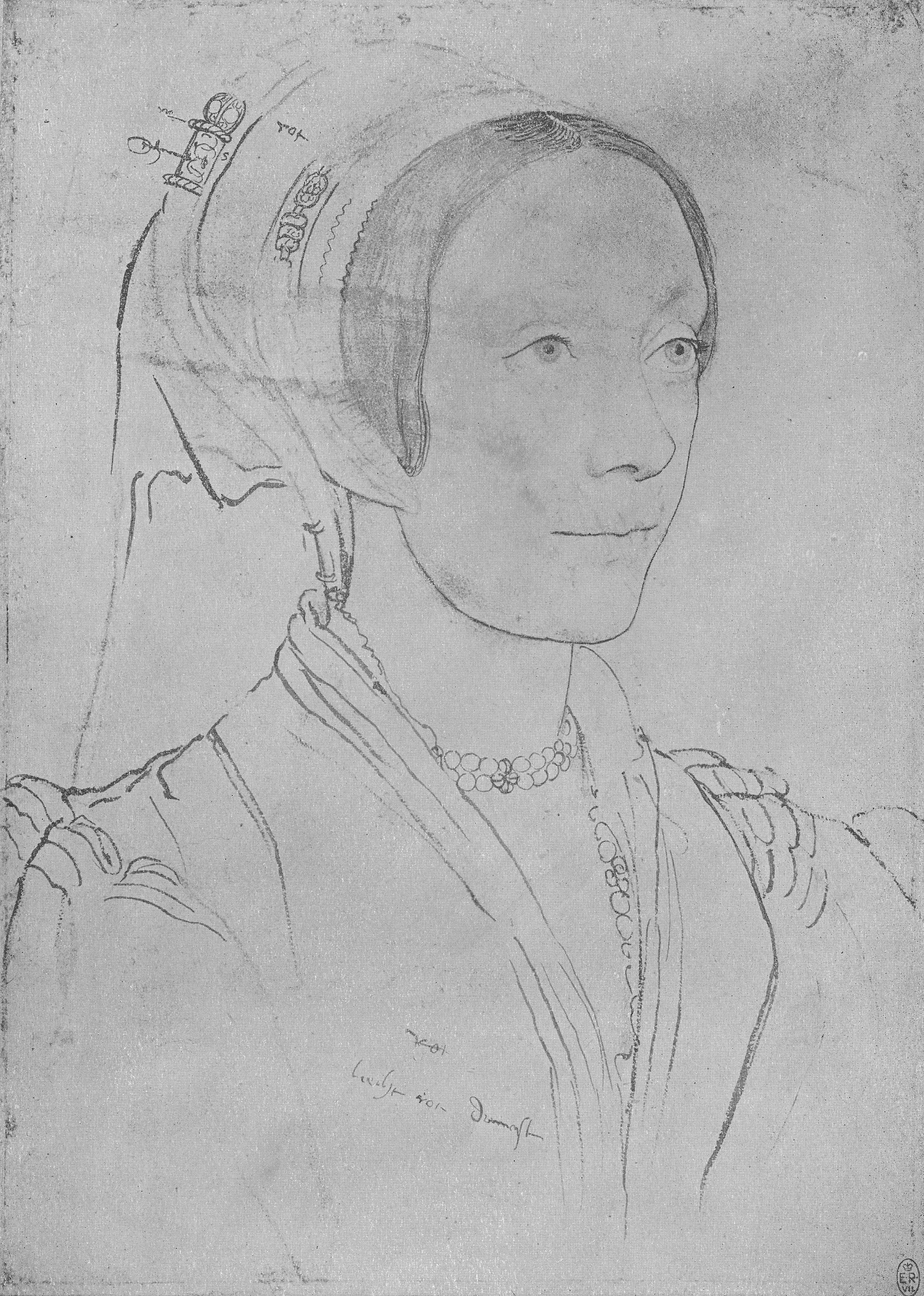 Portrait of an Unknown Lady. c.1540