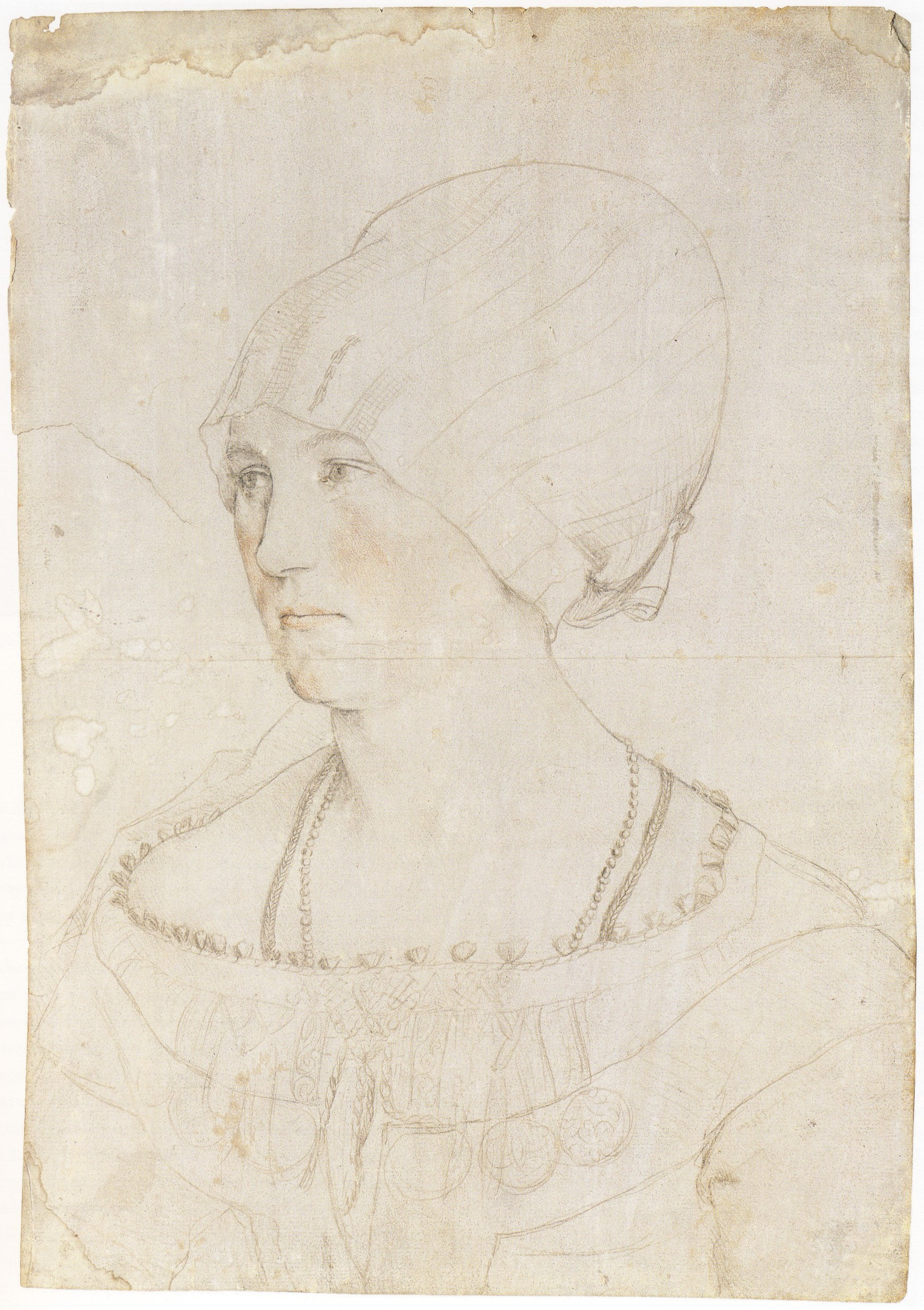 Portrait of Dorothea Meyer, nee Kannengiesser. 1516