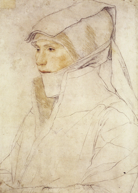 Portrait of Dorothea Meyer, nee Kannengiesser. c.1525-26
