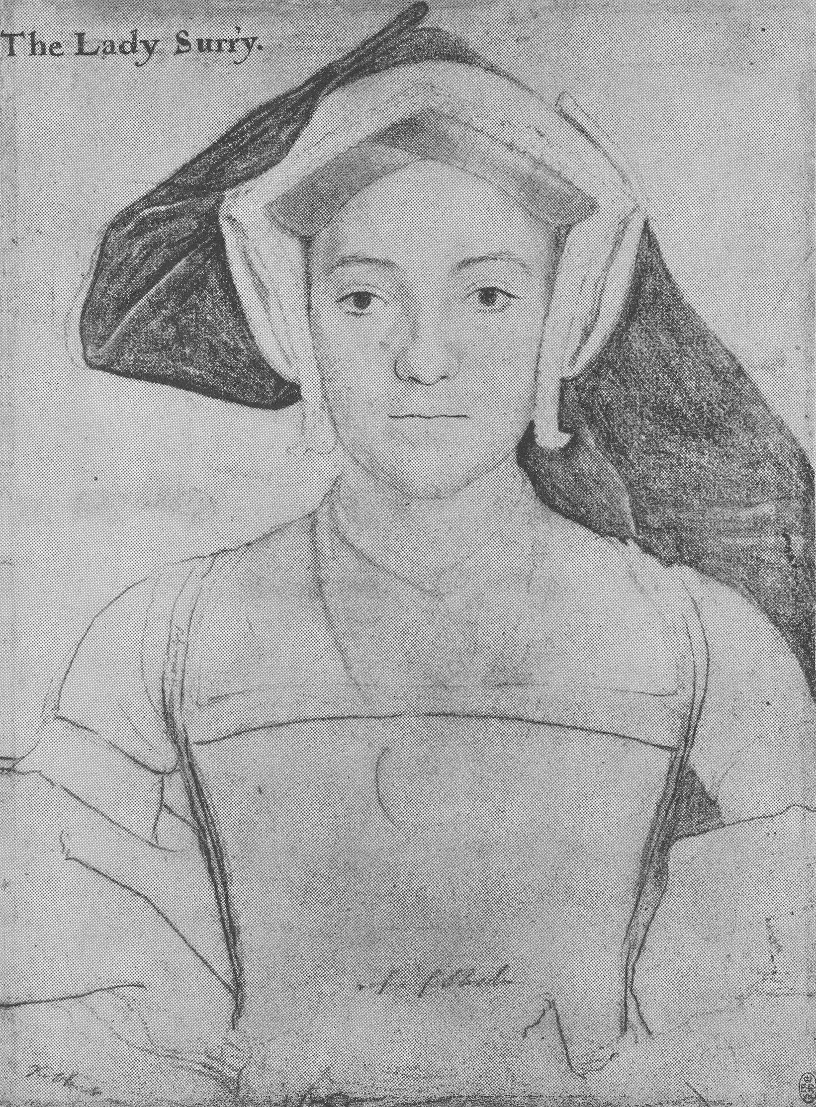 Portrait of Frances, Countess of Surrey. c.1535