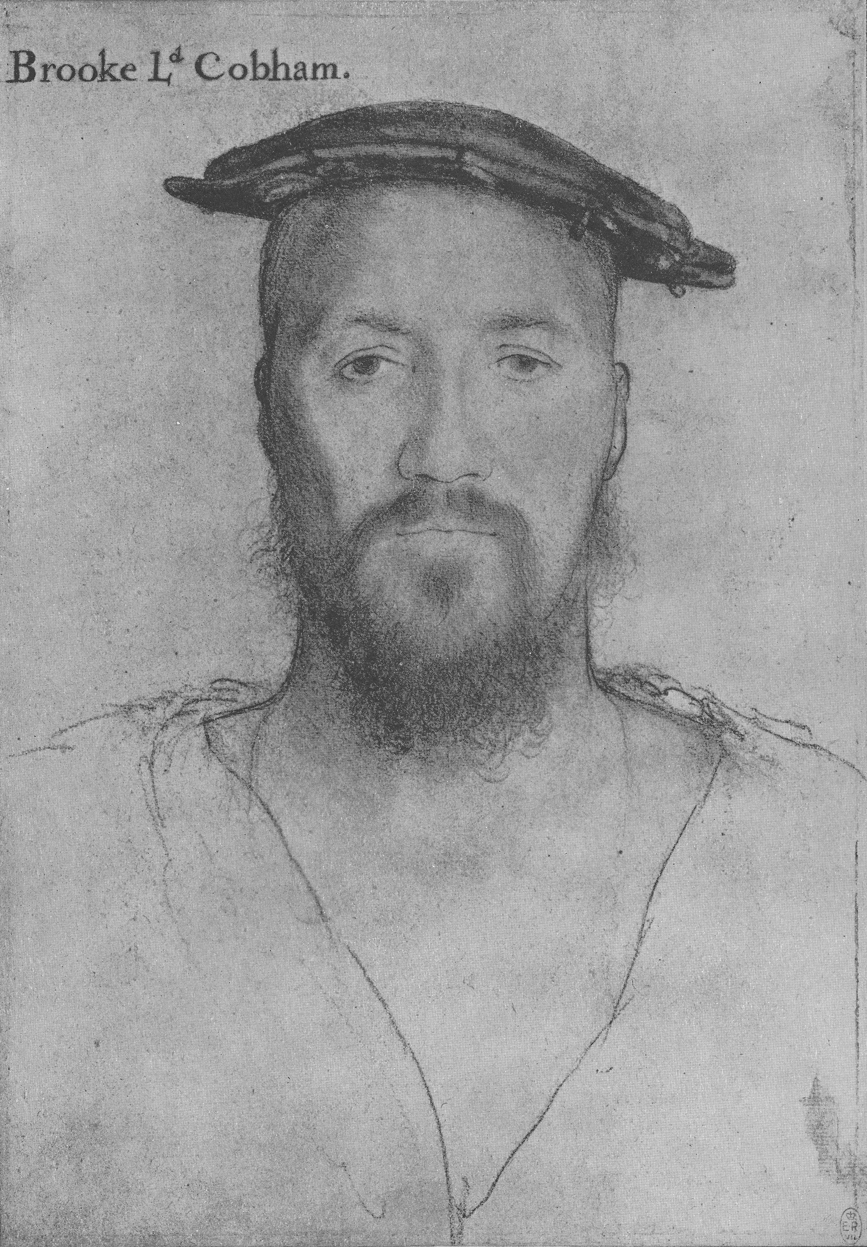 Portrait of George Brooke, 9th Baron Cobham. c.1538-40