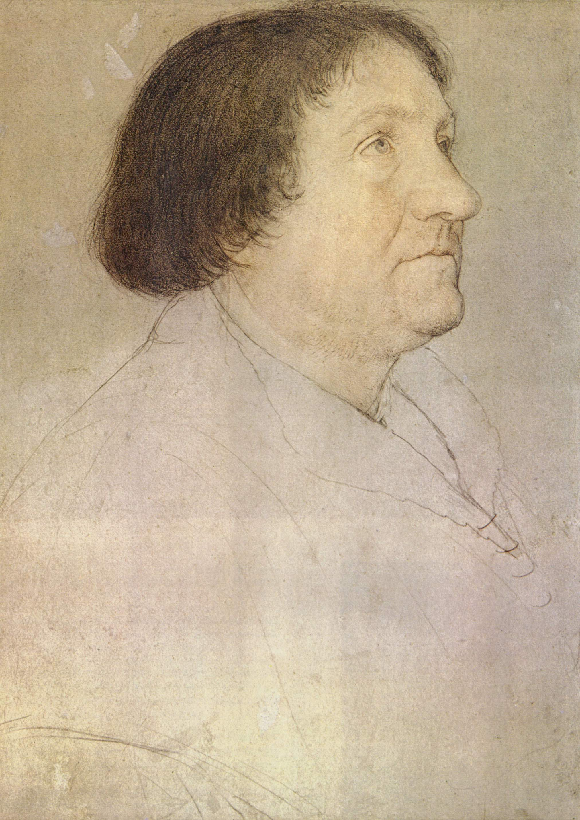 Portrait of Jakob Meyer zum Hasen, Mayor of Basel. 1526-30