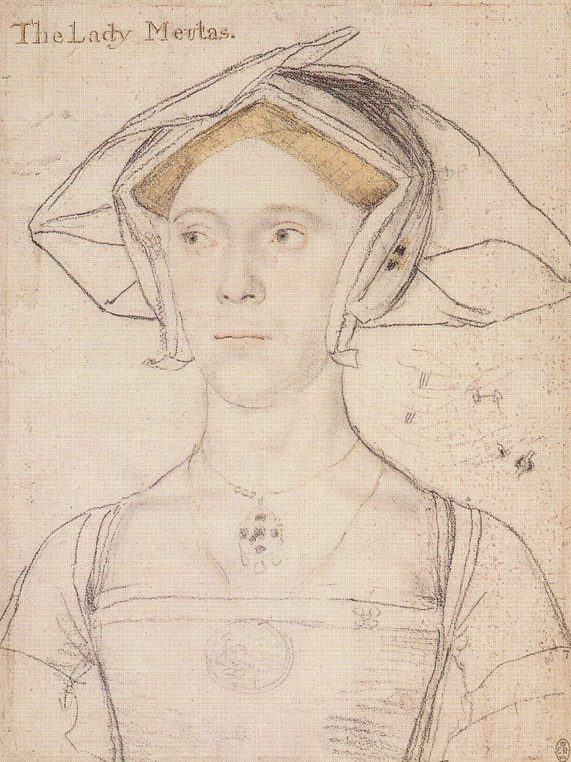 Portrait of Joan, Lady Meutas. c.1536