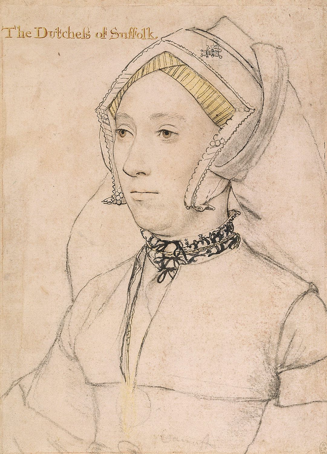 Portrait of Katherine, Duchess of Suffolk. c.1534-36