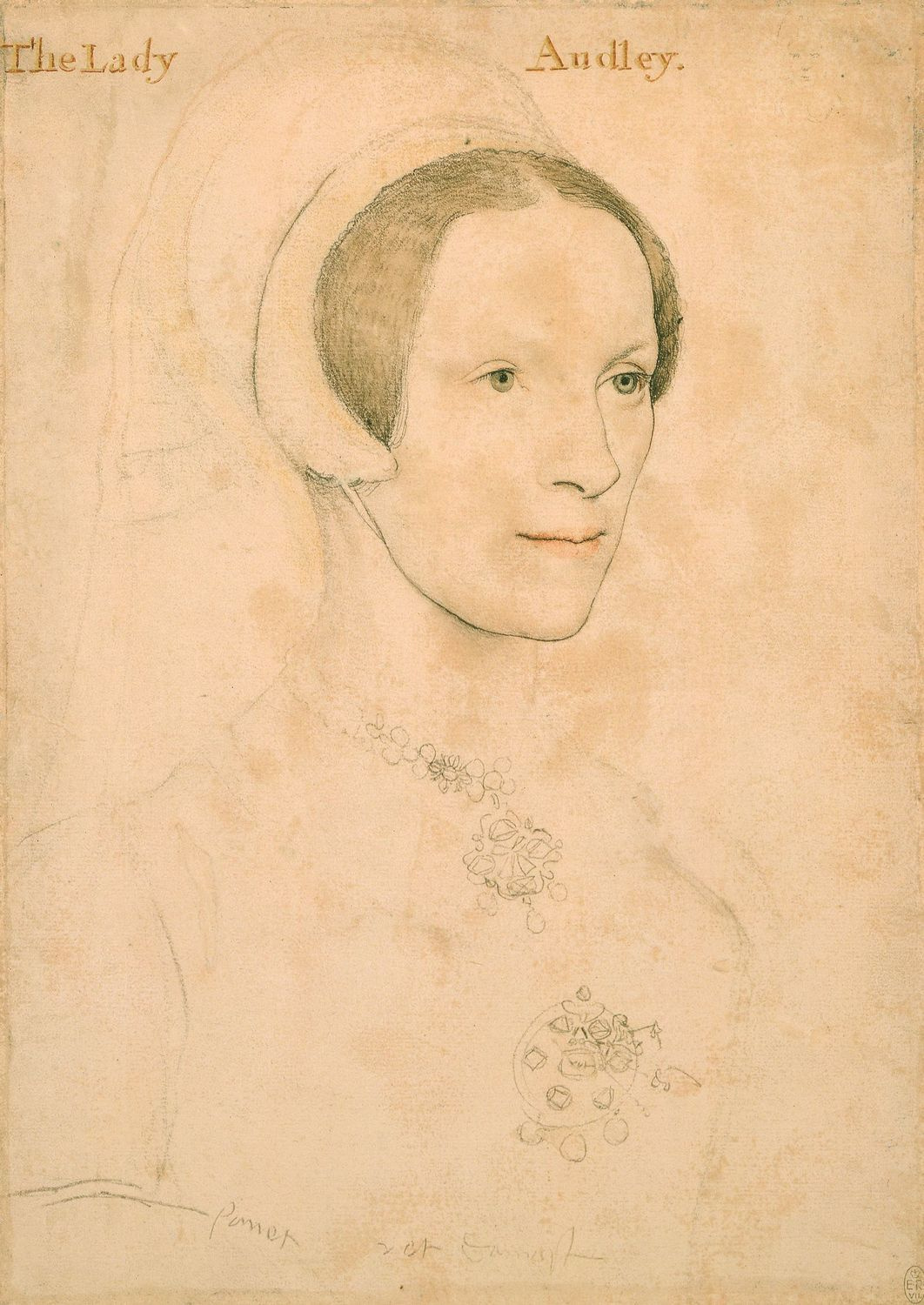 Portrait of Lady Audley. c.1538