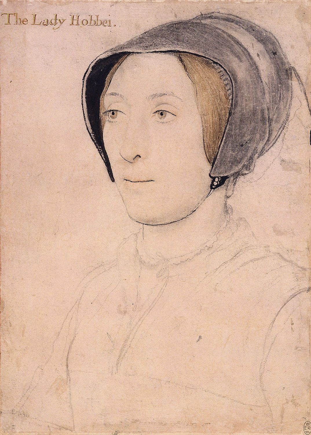 Portrait of Lady Hoby. c.1536-40