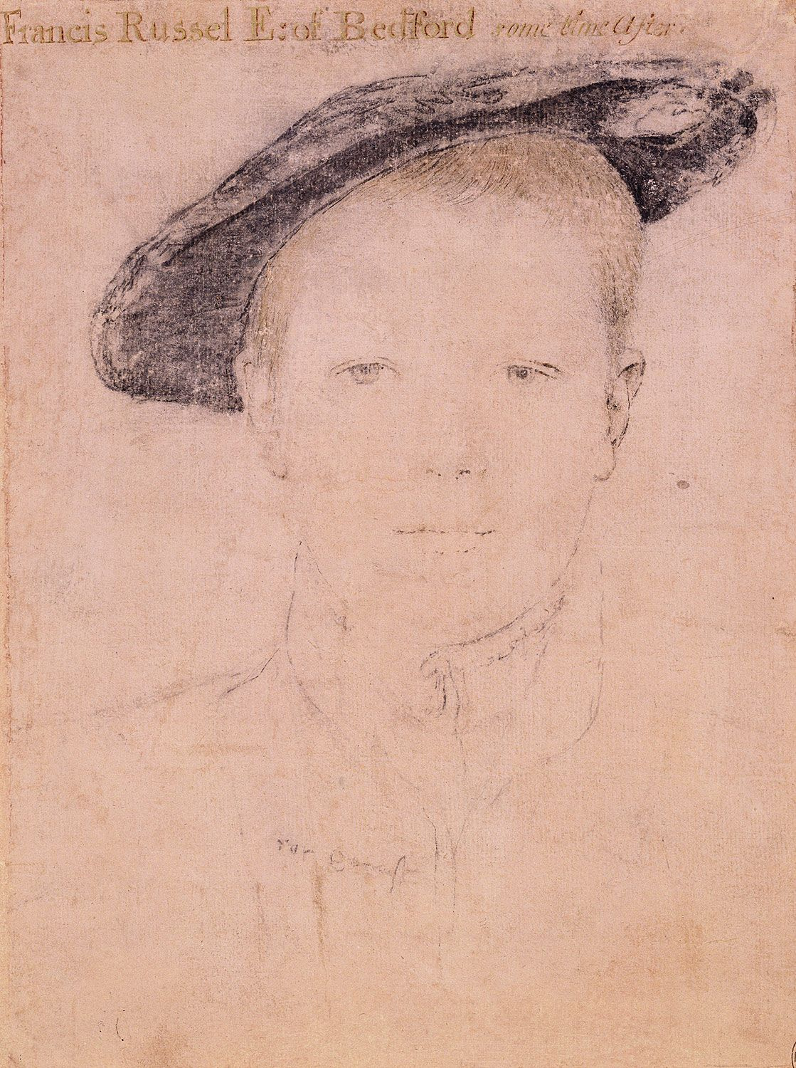 Portrait of Lord Francis Russell. c.1540-42