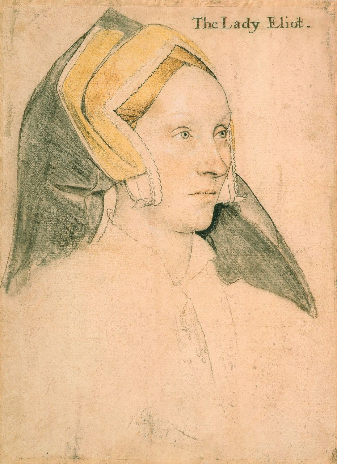 Portrait of Margaret a Barow, Lady Eliot. c.1532-34