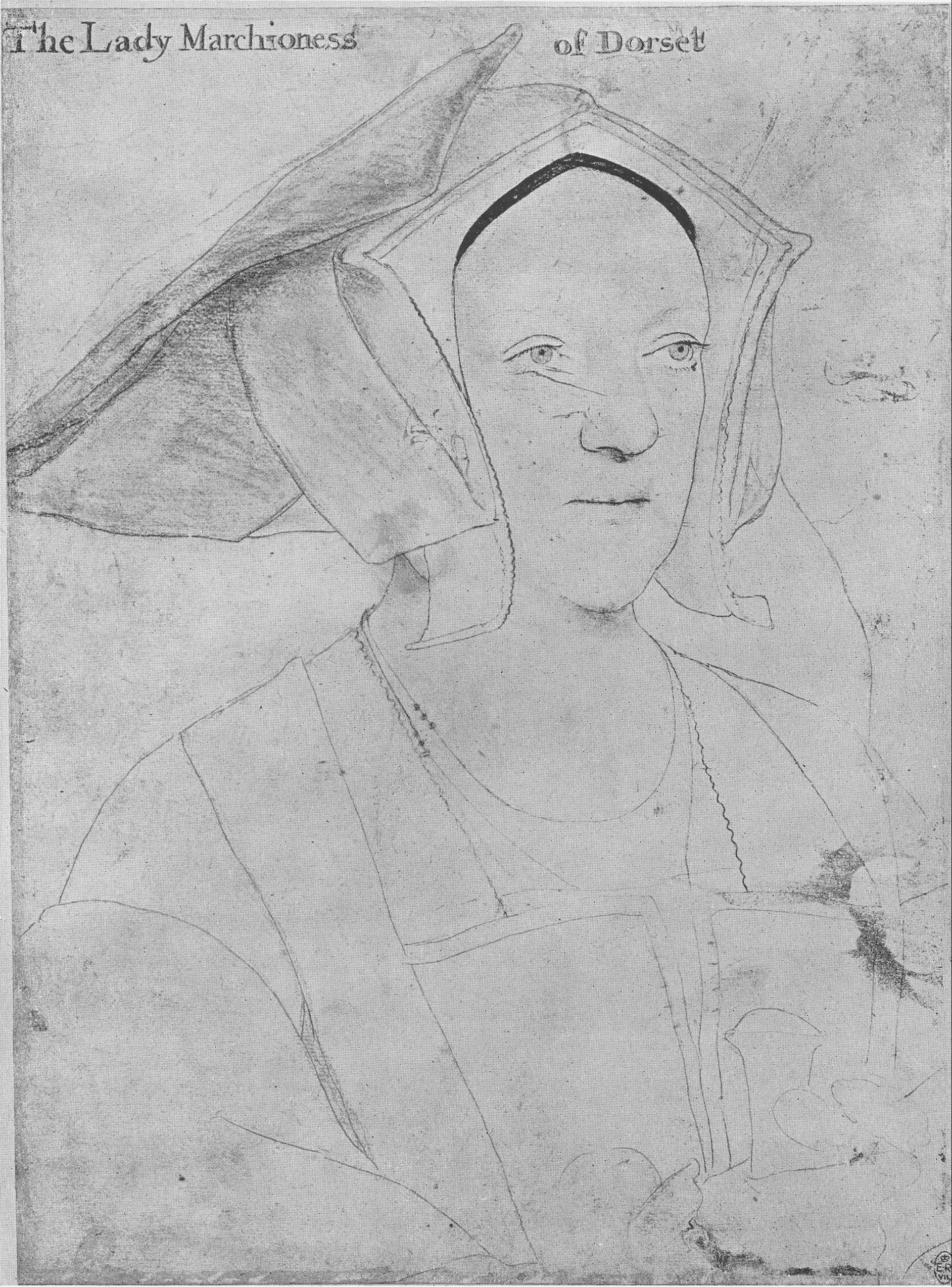 Portrait of Margaret, Marchioness of Dorset. 1532-35