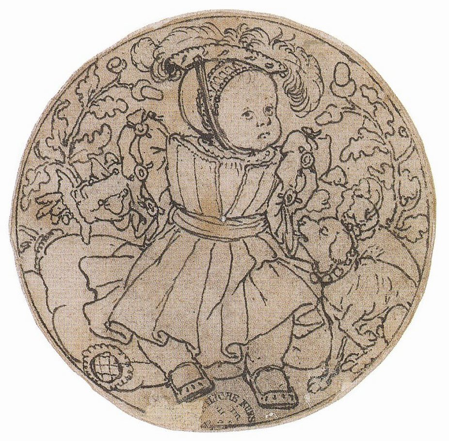 Portrait of Prince Edward in a Roundel. 1538