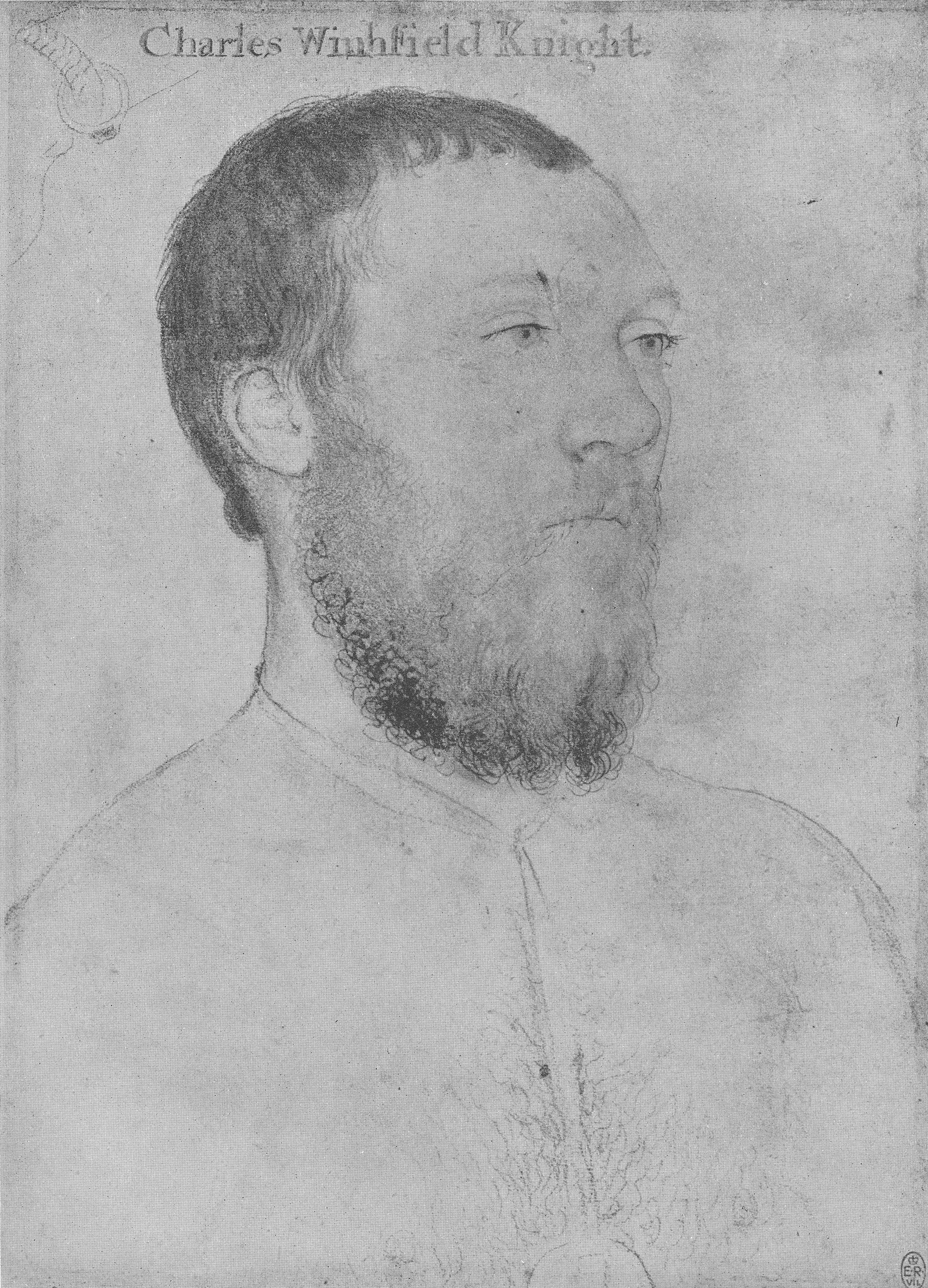 Portrait of Sir Charles Wingfield. 1532-43