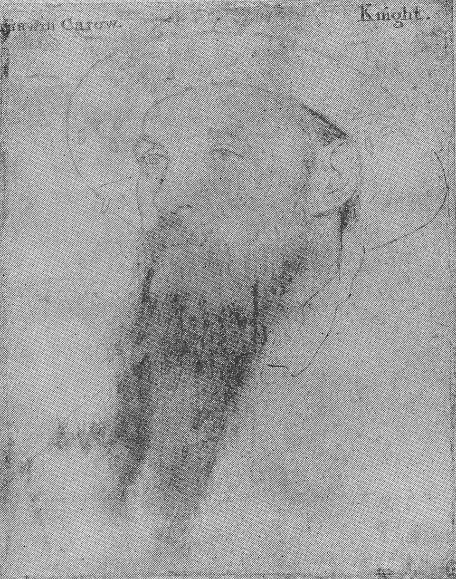 Portrait of Sir Gavin Carew. 1532-43