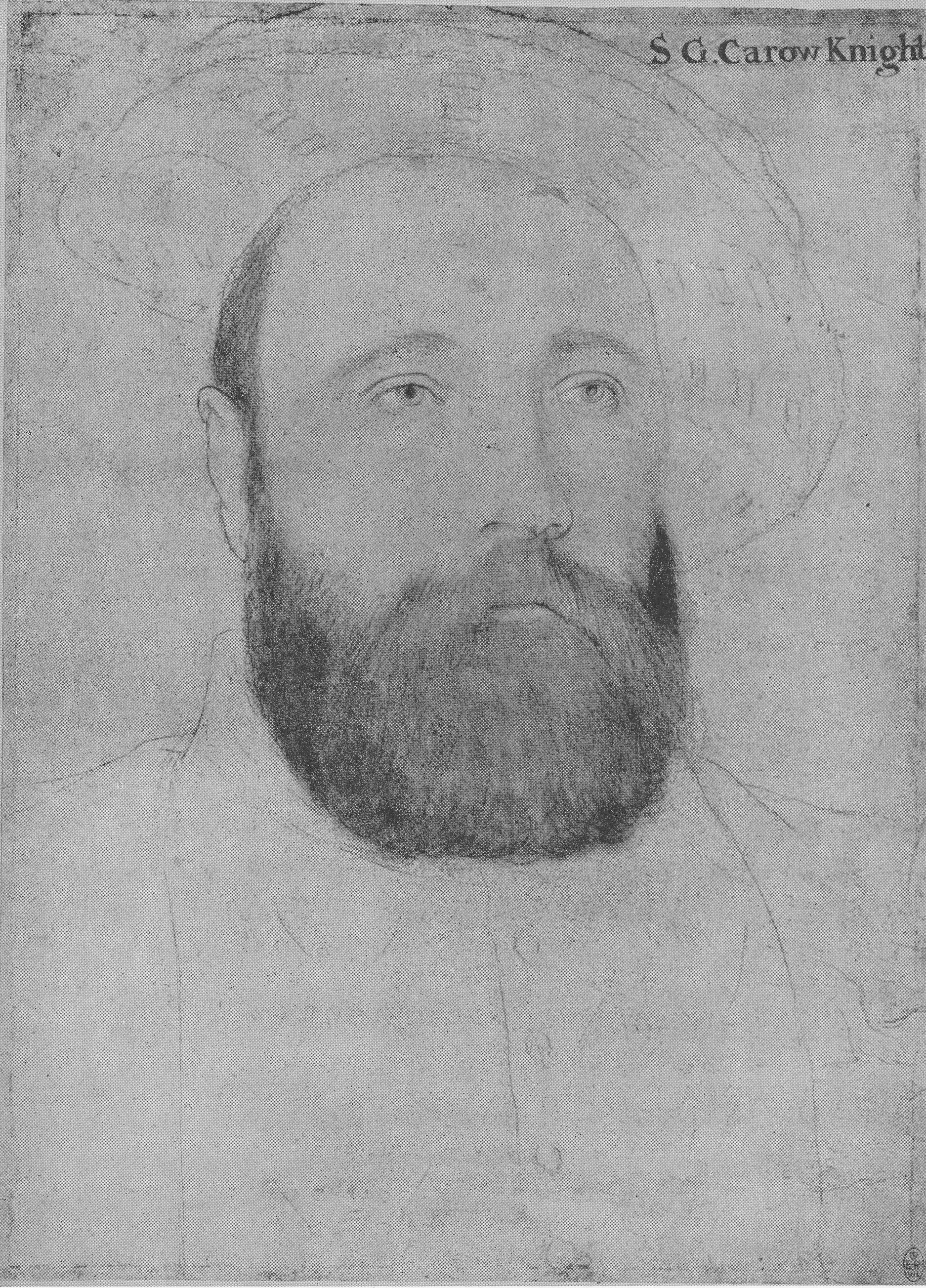 Portrait of Sir George Carew. c.1540-43