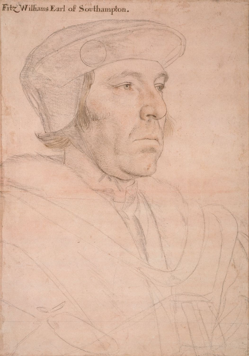 Portrait of William FitzWilliam, 1st Earl of Southampton. c.1536-40