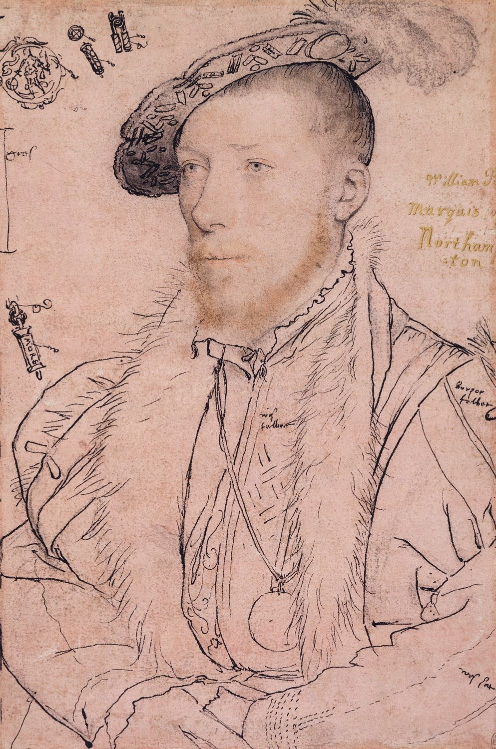 Portrait of William Parr, Marquess of Northampton. c.1538-40