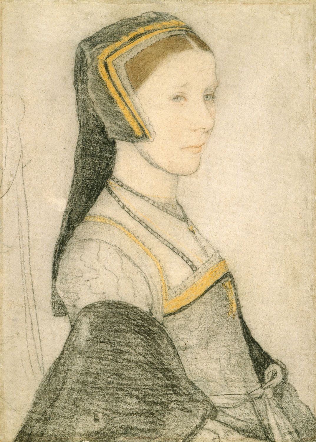 Portrait study of Anne Cresacre. c.1527
