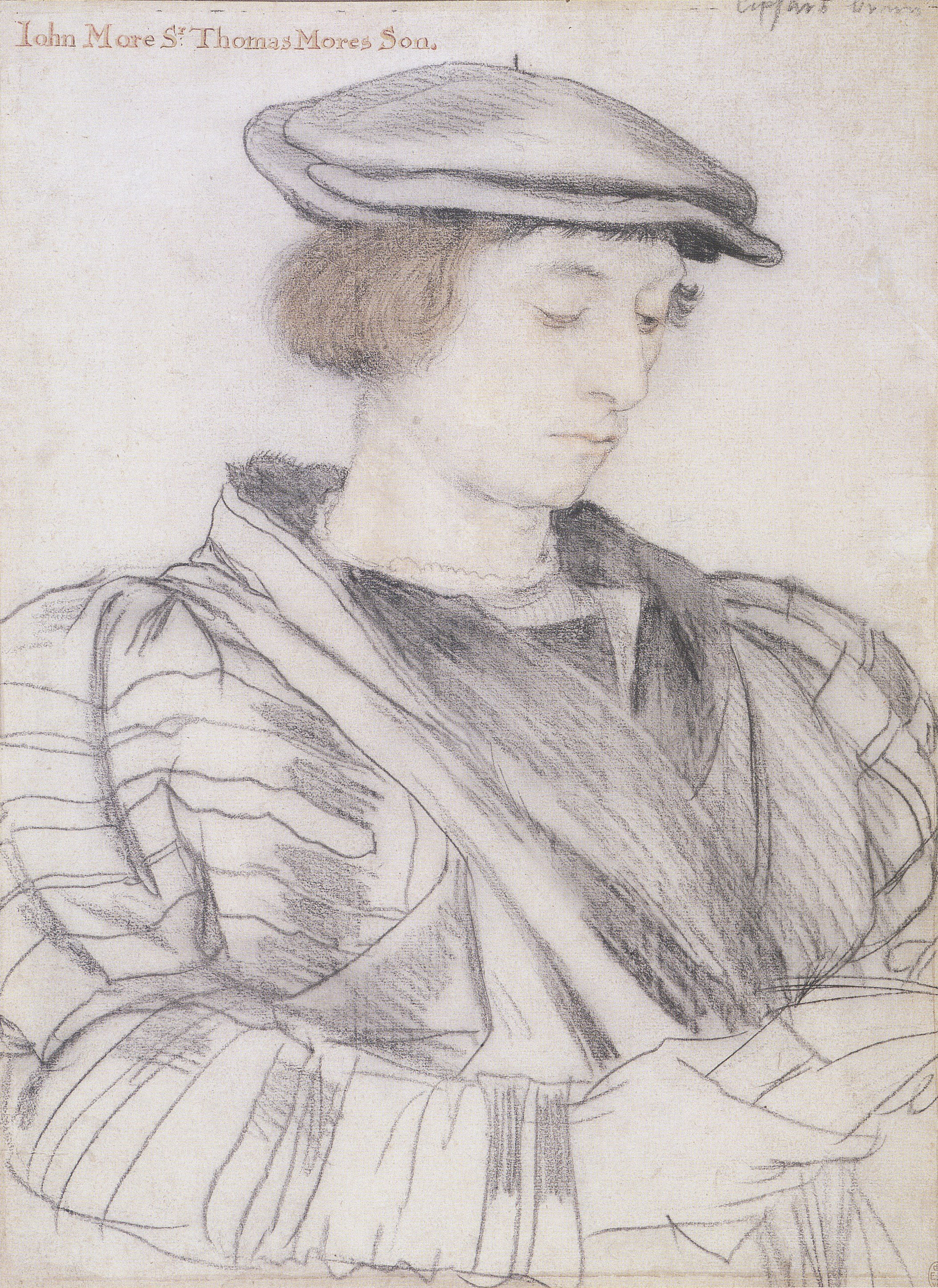 Portrait study of John More. c.1527