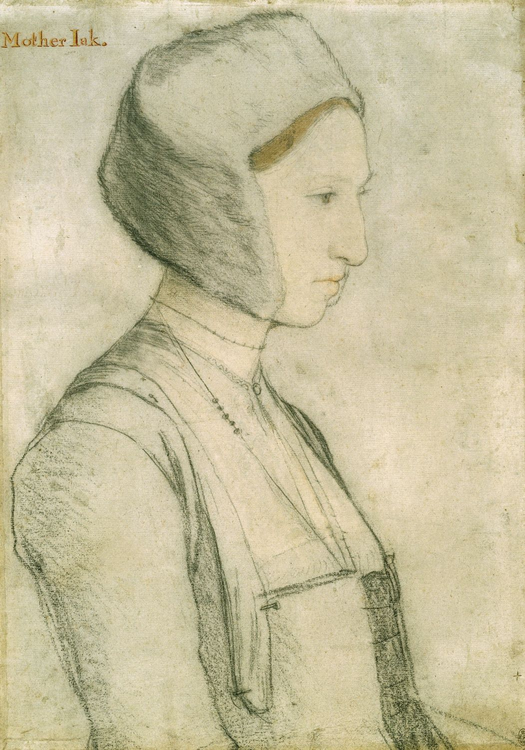 Portrait study of Margaret Giggs. c.1527