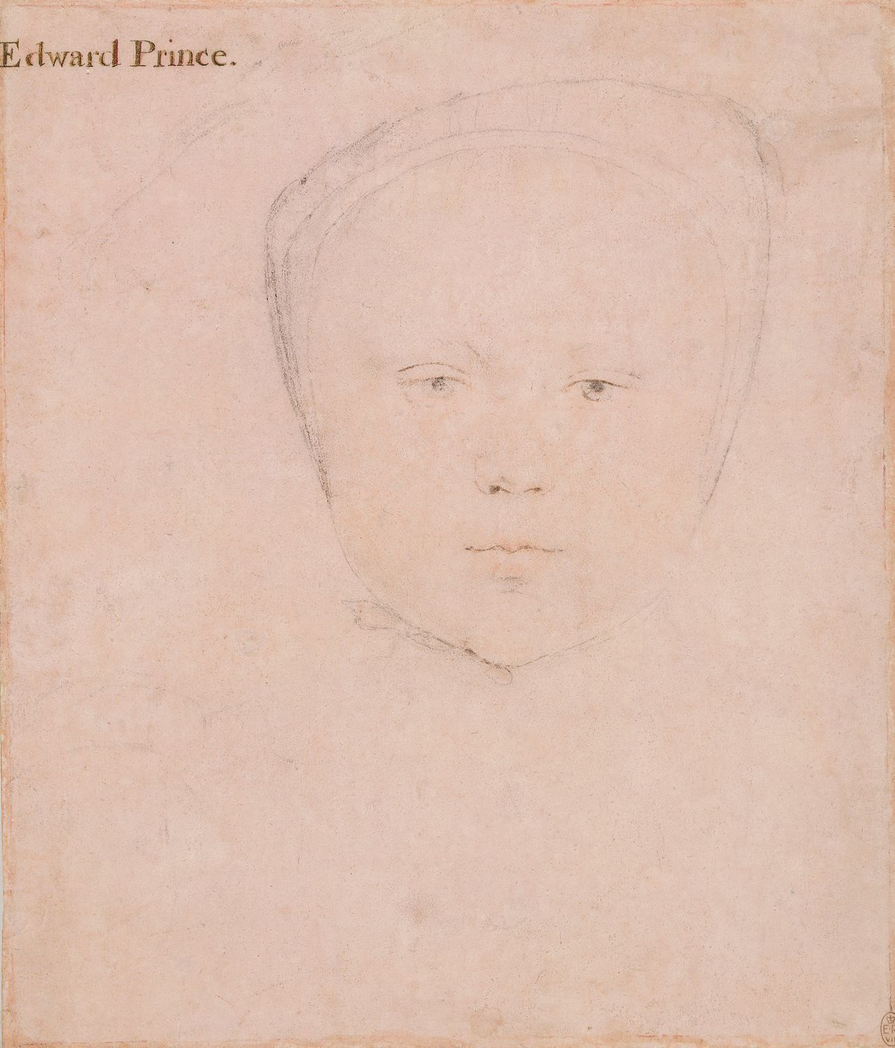 Portrait Study of Prince Edward as a Young Child. 1538