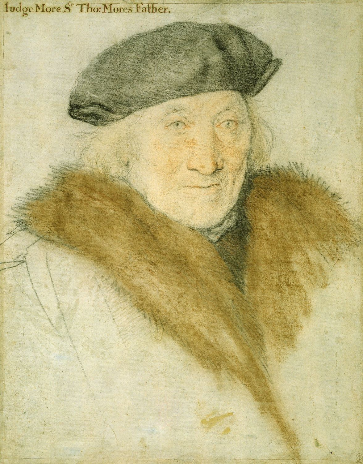 Portrait study of Sir John More. c.1527