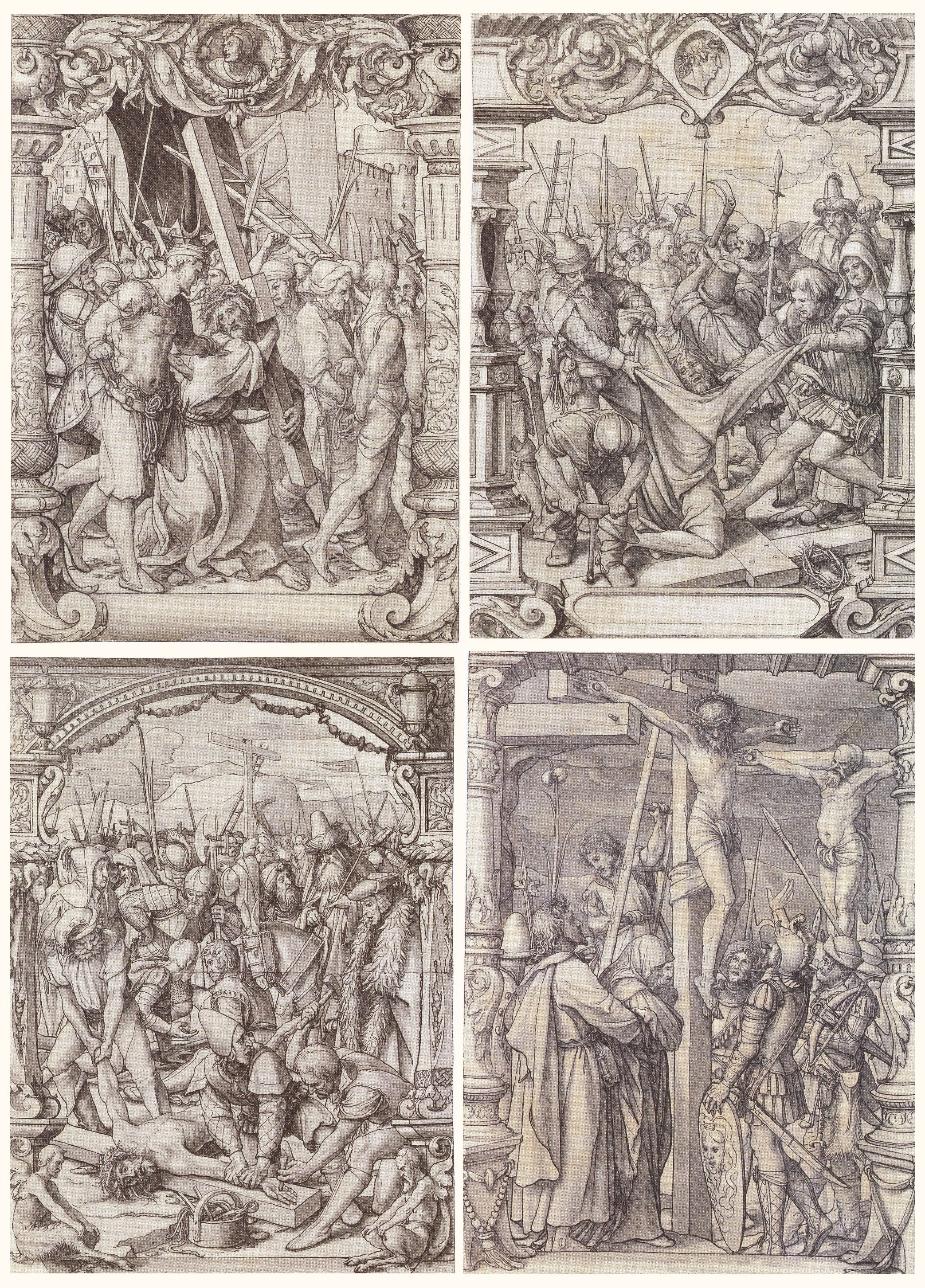 Stained Glass Window Designs for the Passion of Christ. c.1525-1528