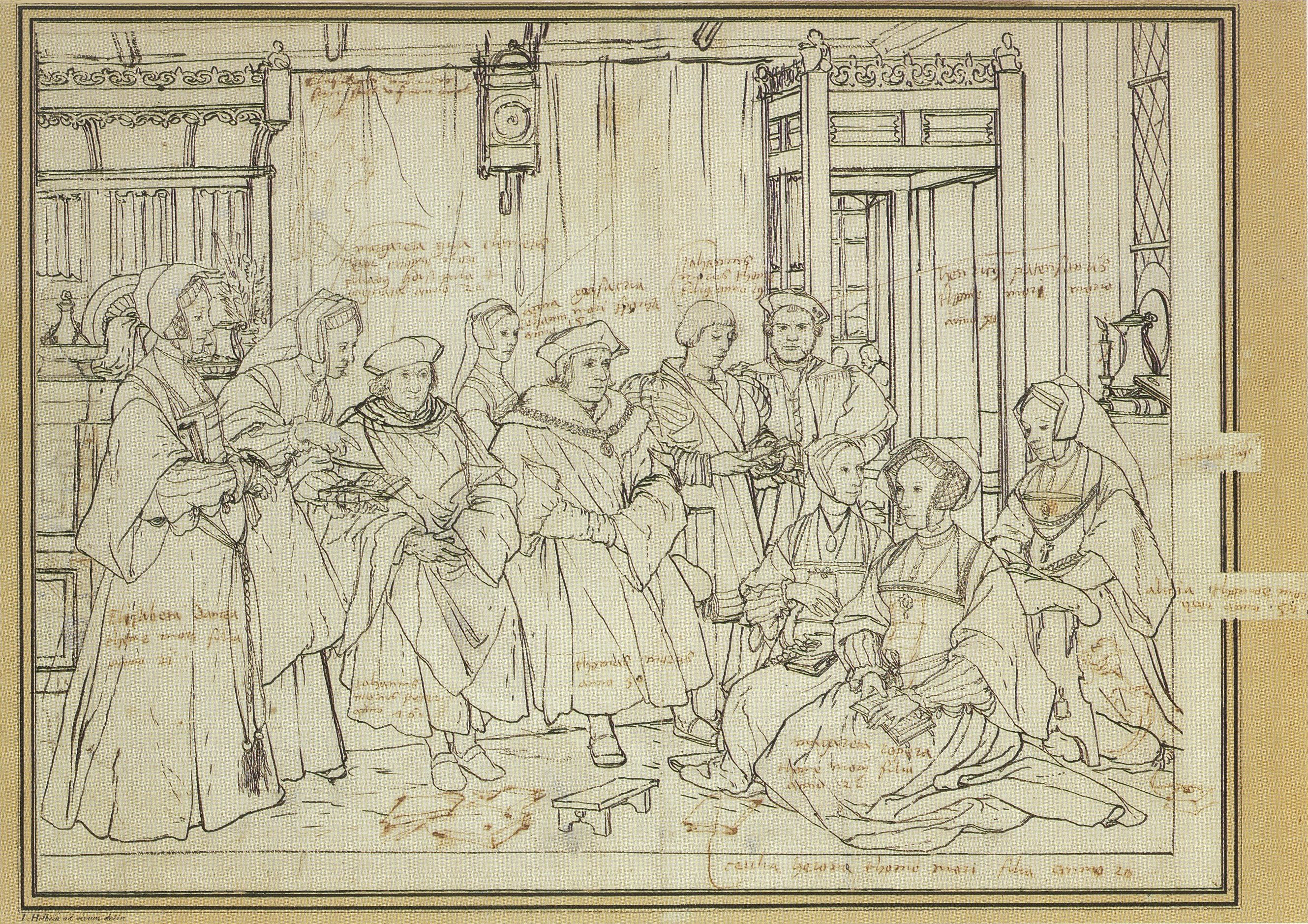 Study for the Family Portrait of Sir Thomas More. c.1527