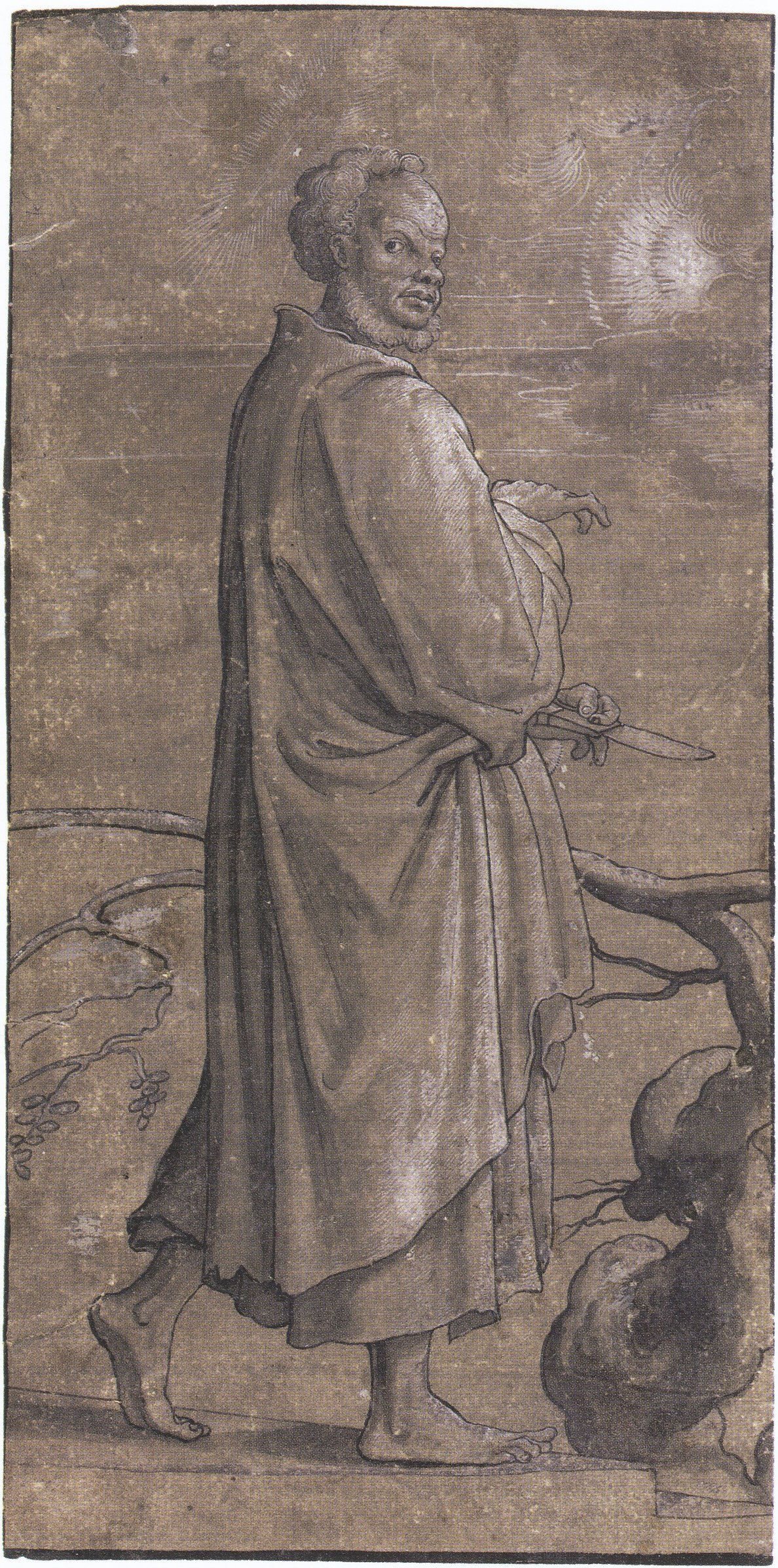 The Apostle Bartholemew, workshop or circle of Hans Holbein the Younger. c.1527