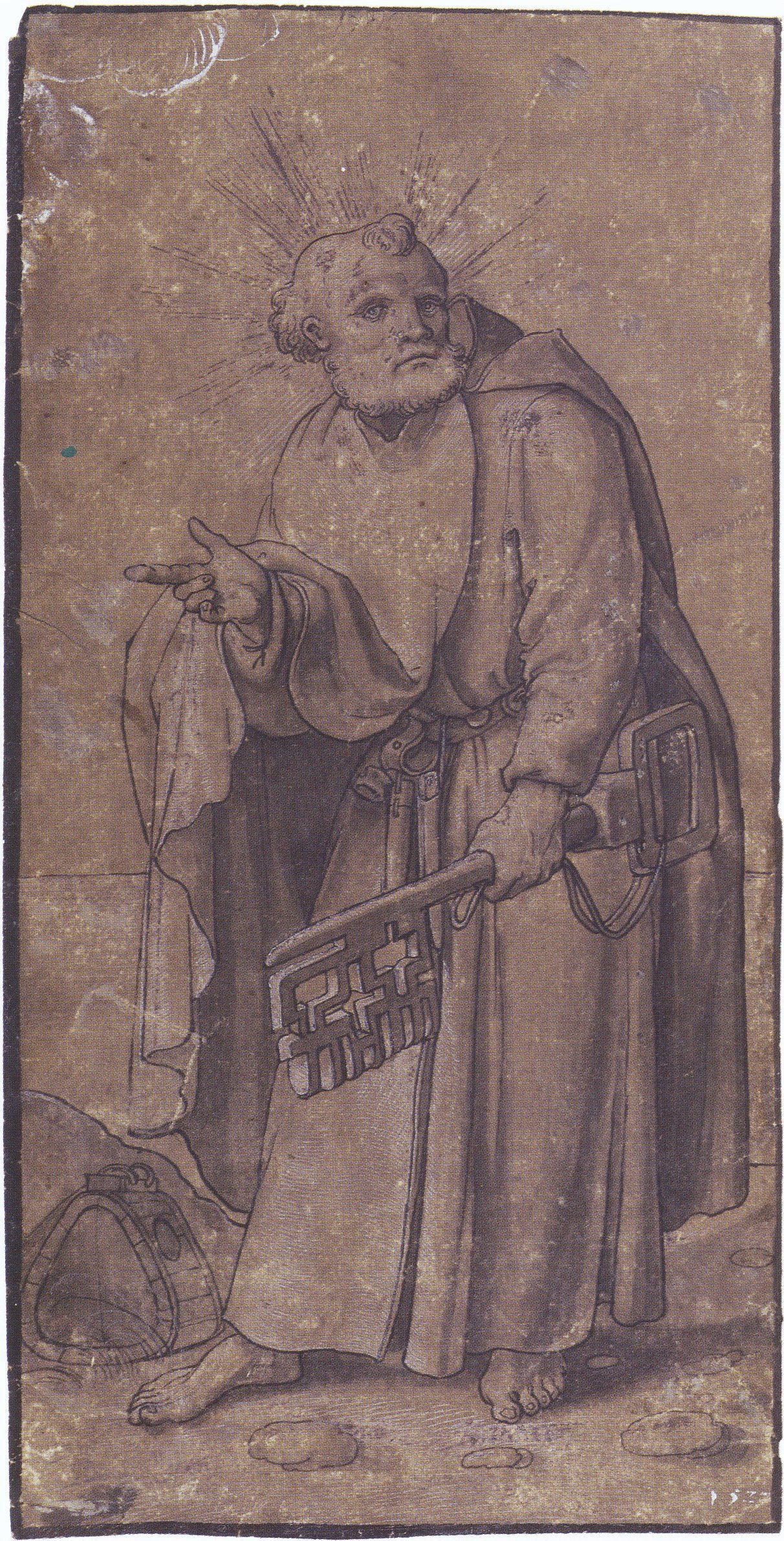 The Apostle Peter. workshop or circle of Hans Holbein the Younger. 1527